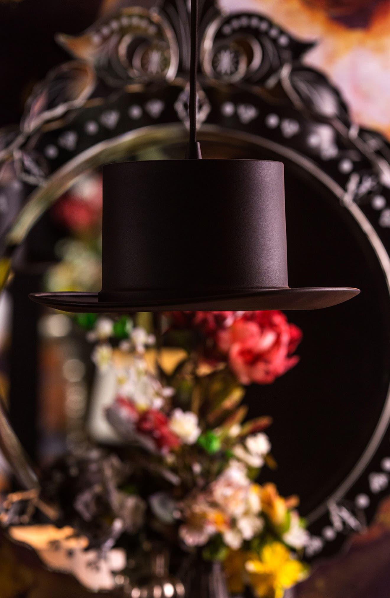 Langley Top Hat Ceiling Fixture,                             Alternate thumbnail 2, color,                             Black