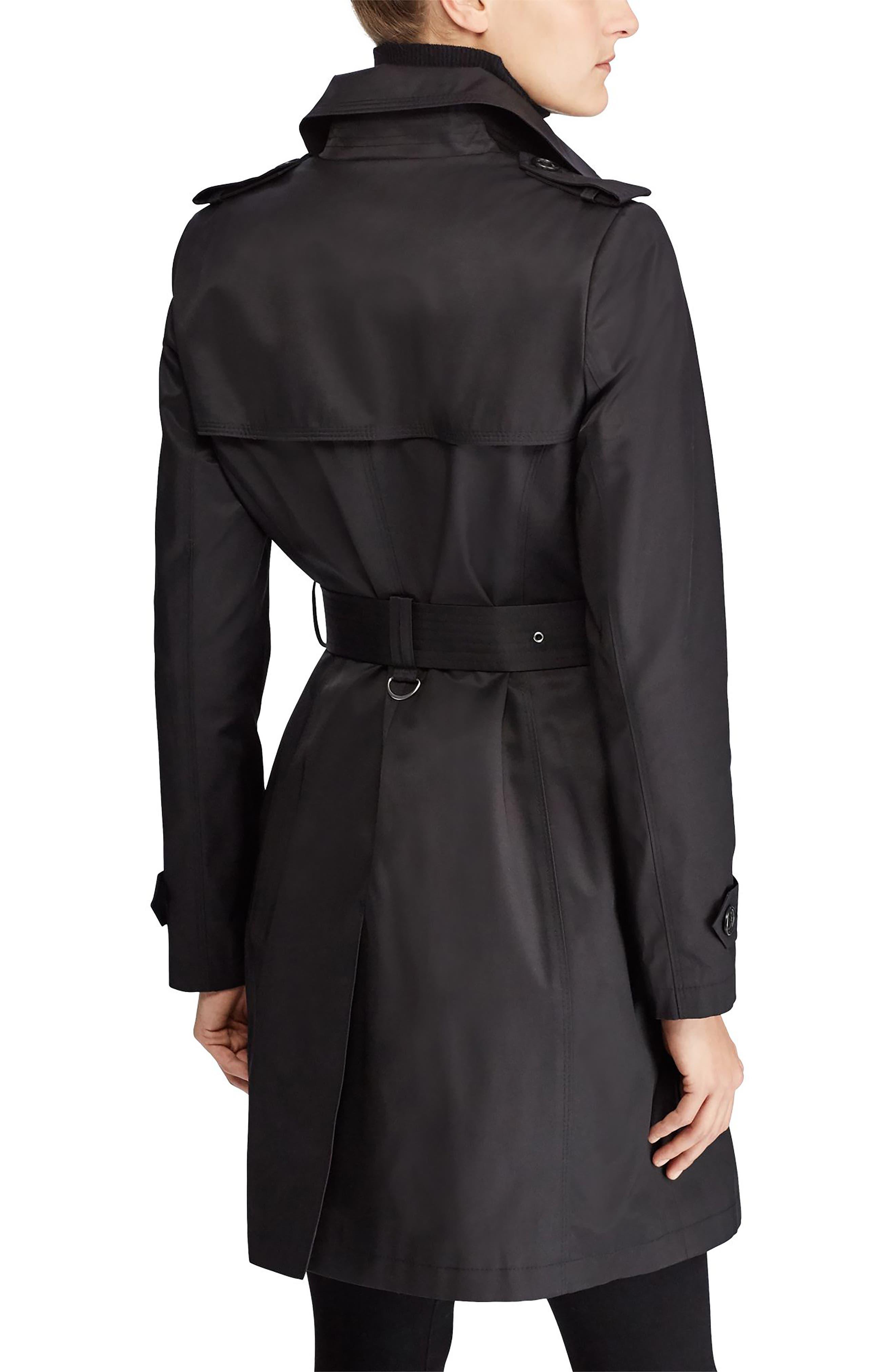 Alternate Image 2  - Lauren Ralph Lauren Trench Coat (Petite)