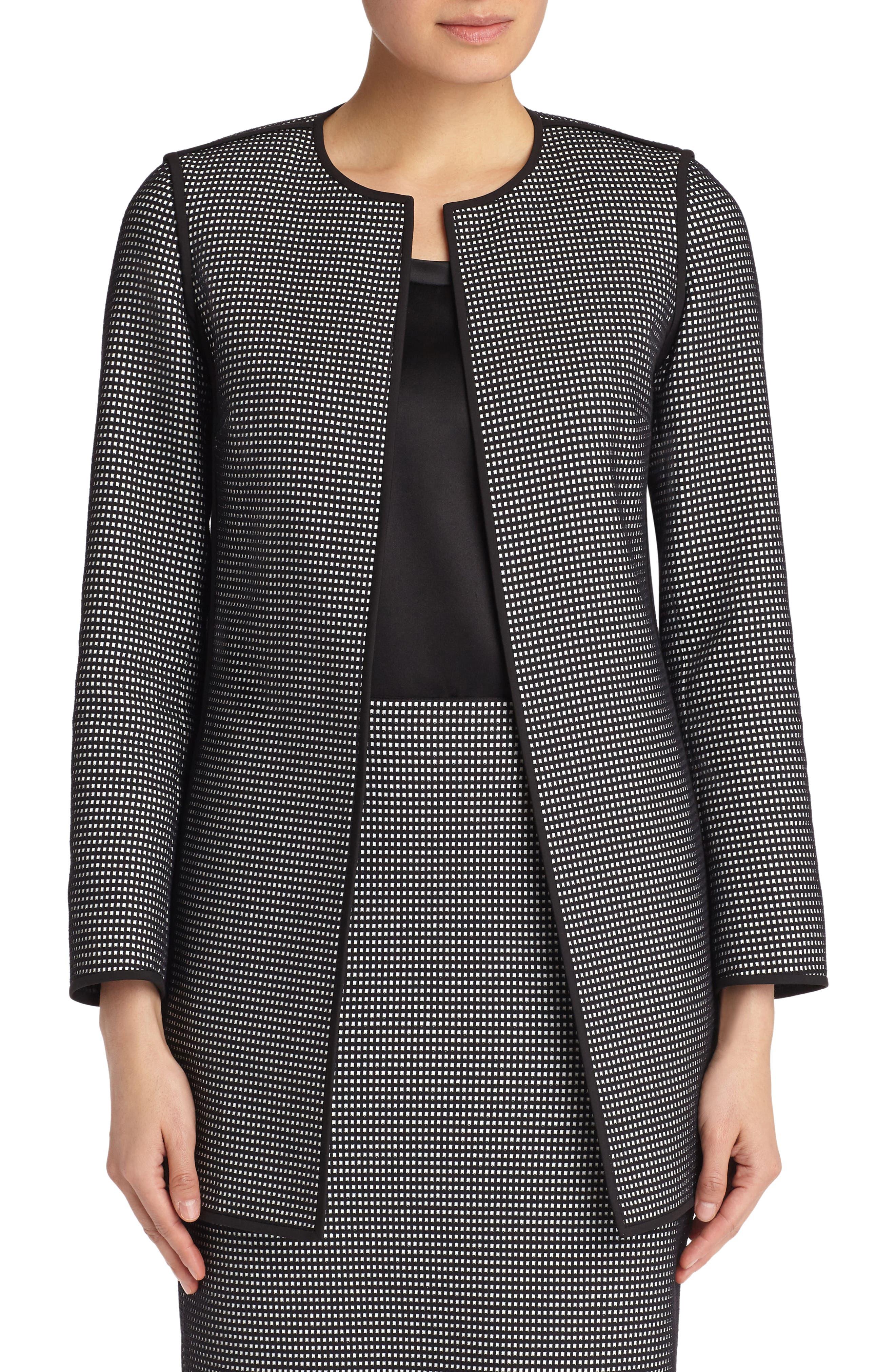 Pria Check Jacket,                         Main,                         color, Black Multi
