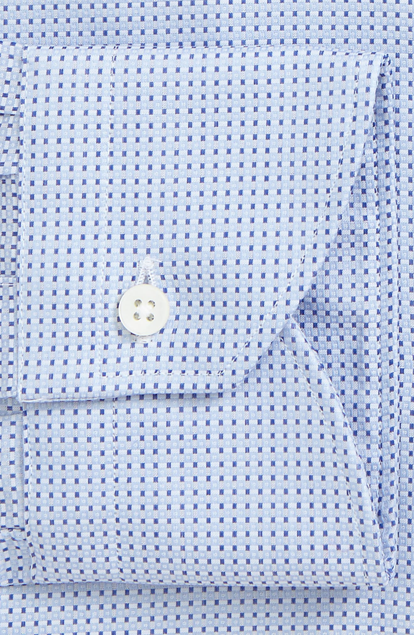 Regular Fit Geometric Dress Shirt,                             Alternate thumbnail 2, color,                             Light Blue