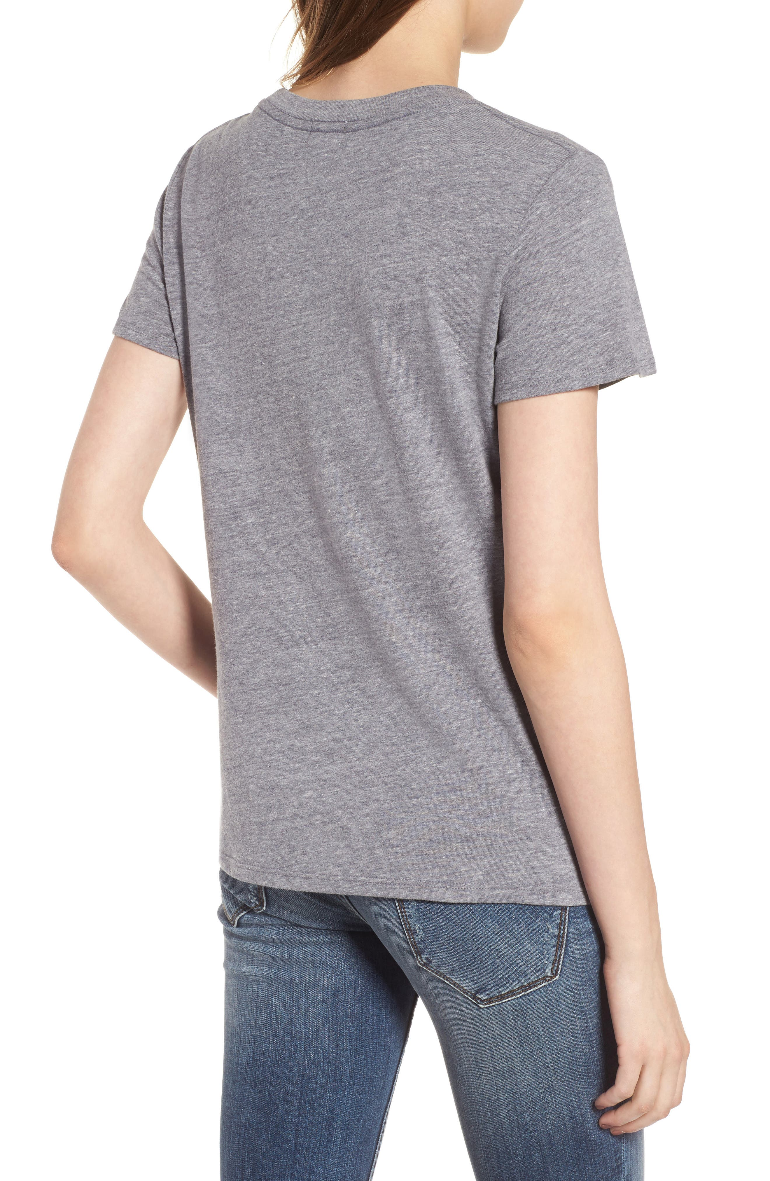 Lemon Ginger Loose Tee,                             Alternate thumbnail 2, color,                             Heather Grey