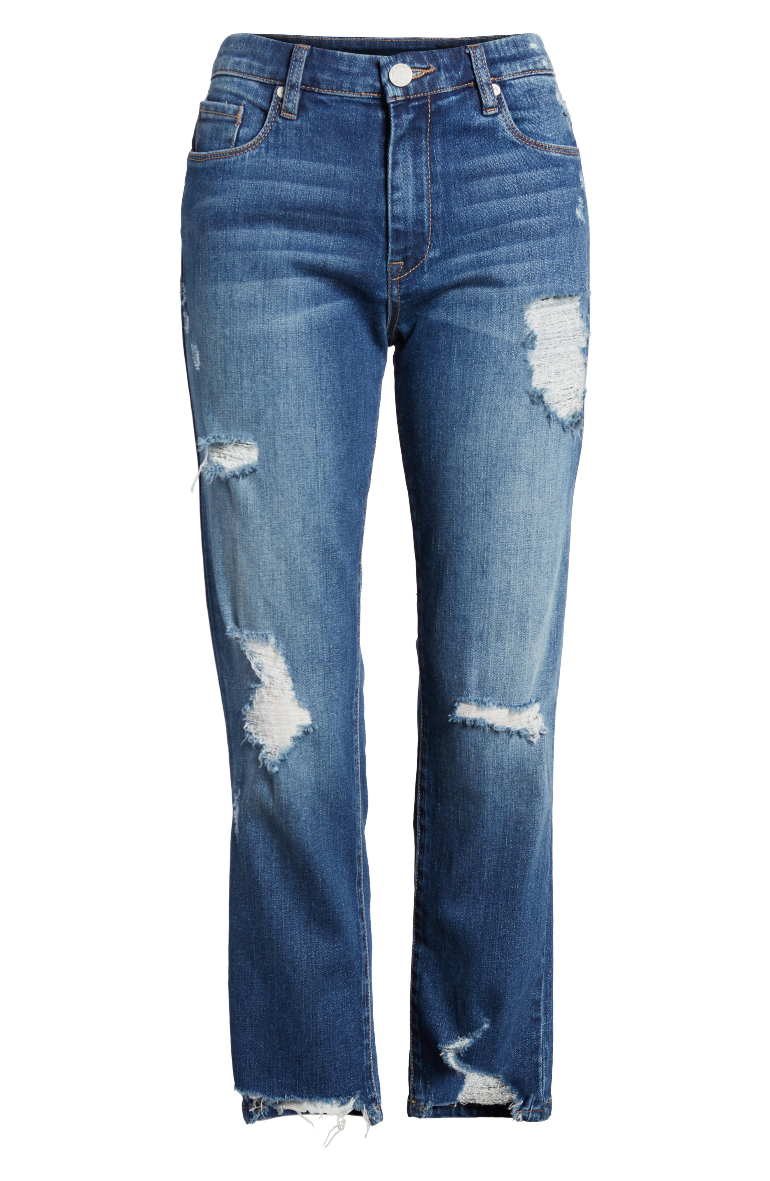 Your Favorite Distressed Straight Jeans,                             Alternate thumbnail 7, color,                             Blame Game