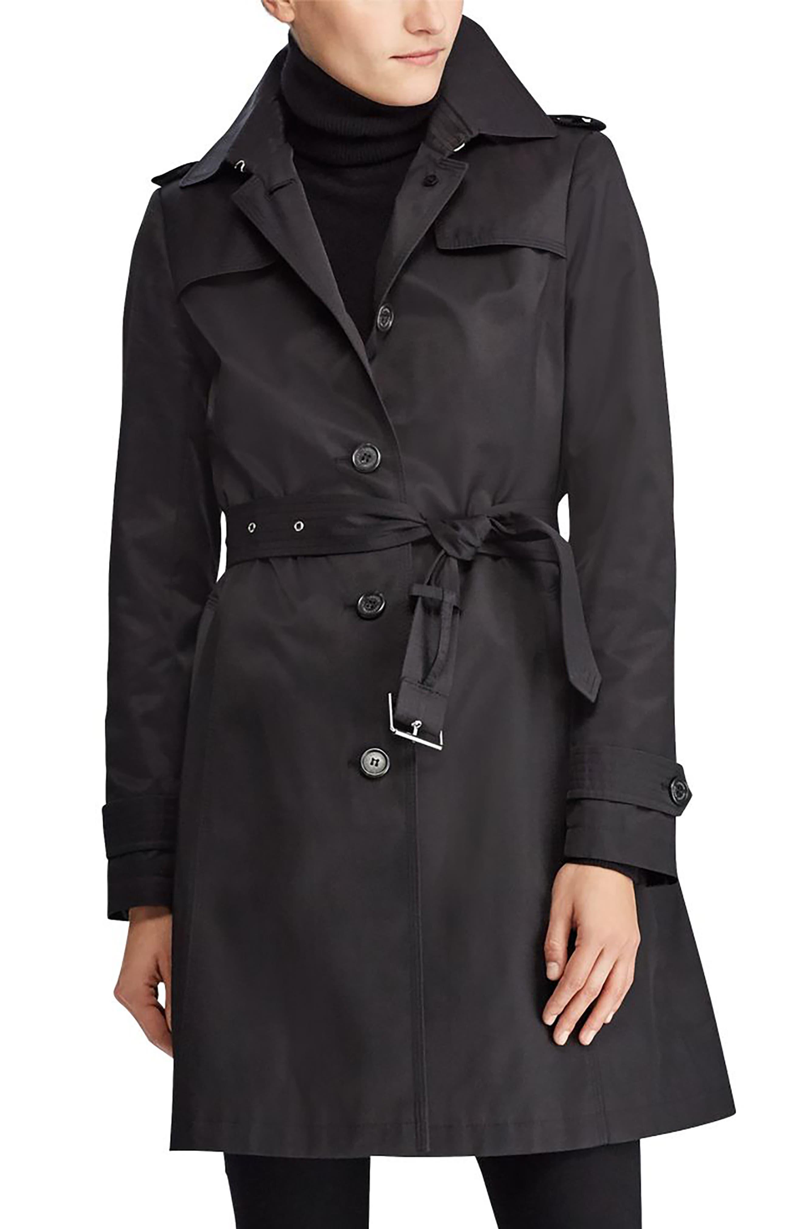 Alternate Image 1 Selected - Lauren Ralph Lauren Trench Coat (Petite)