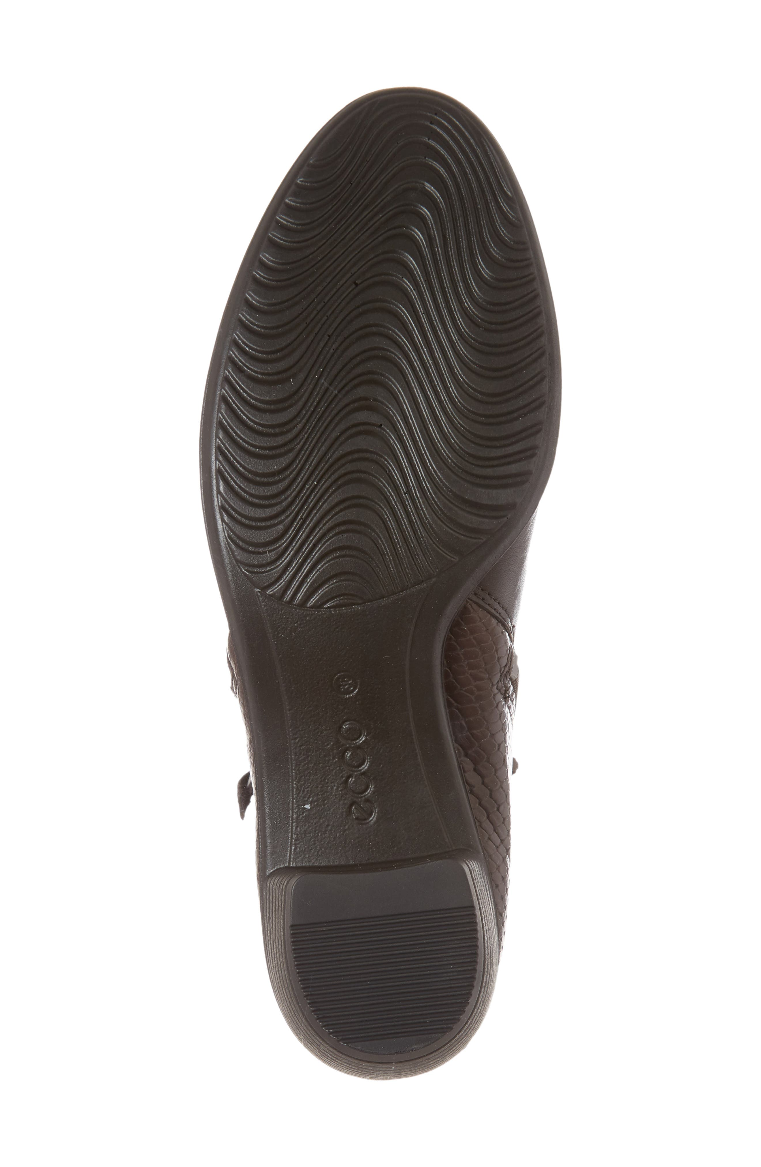 'Touch' Zip Bootie,                             Alternate thumbnail 6, color,                             Coffee Leather
