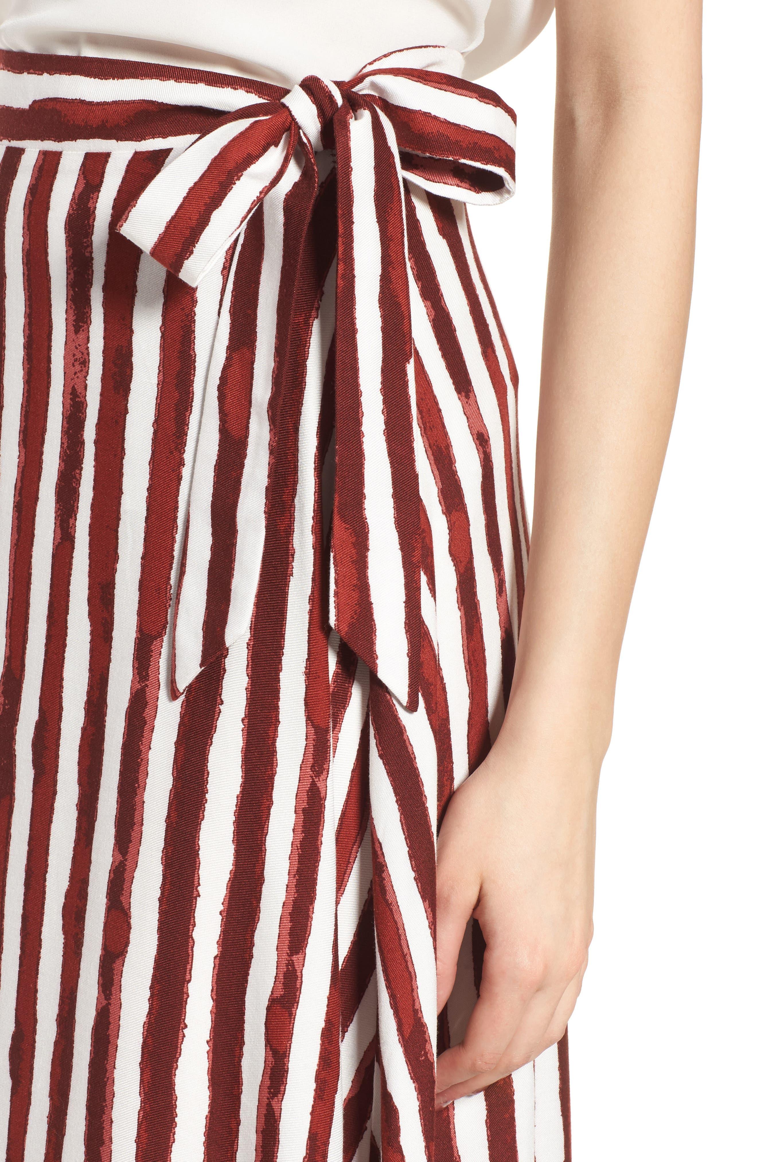 Maxi Skirt,                             Alternate thumbnail 6, color,                             Burgundy/ Ivory