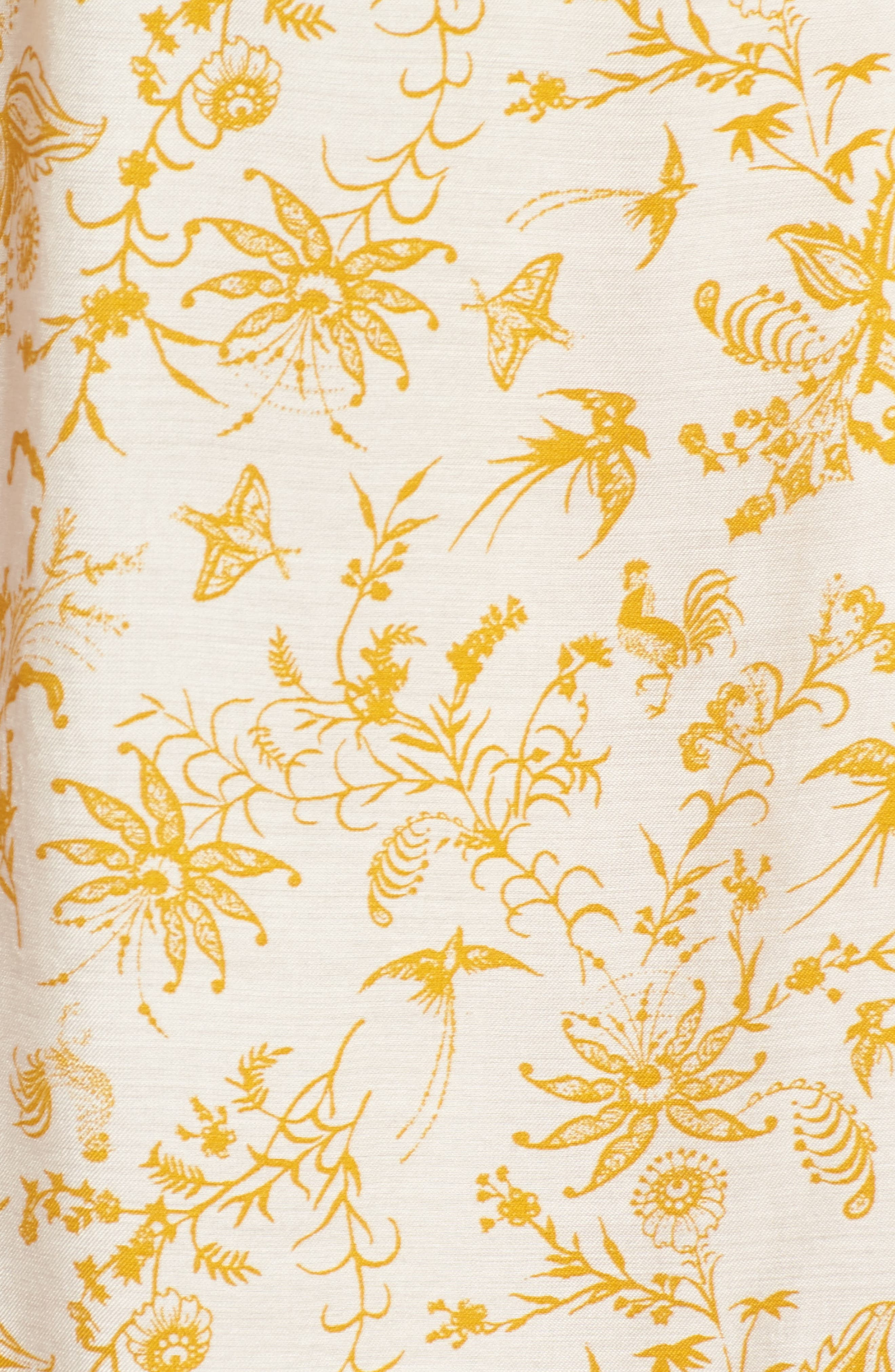 Volume Shoulder Print Top,                             Alternate thumbnail 5, color,                             Ivory Birch Artistic Floral