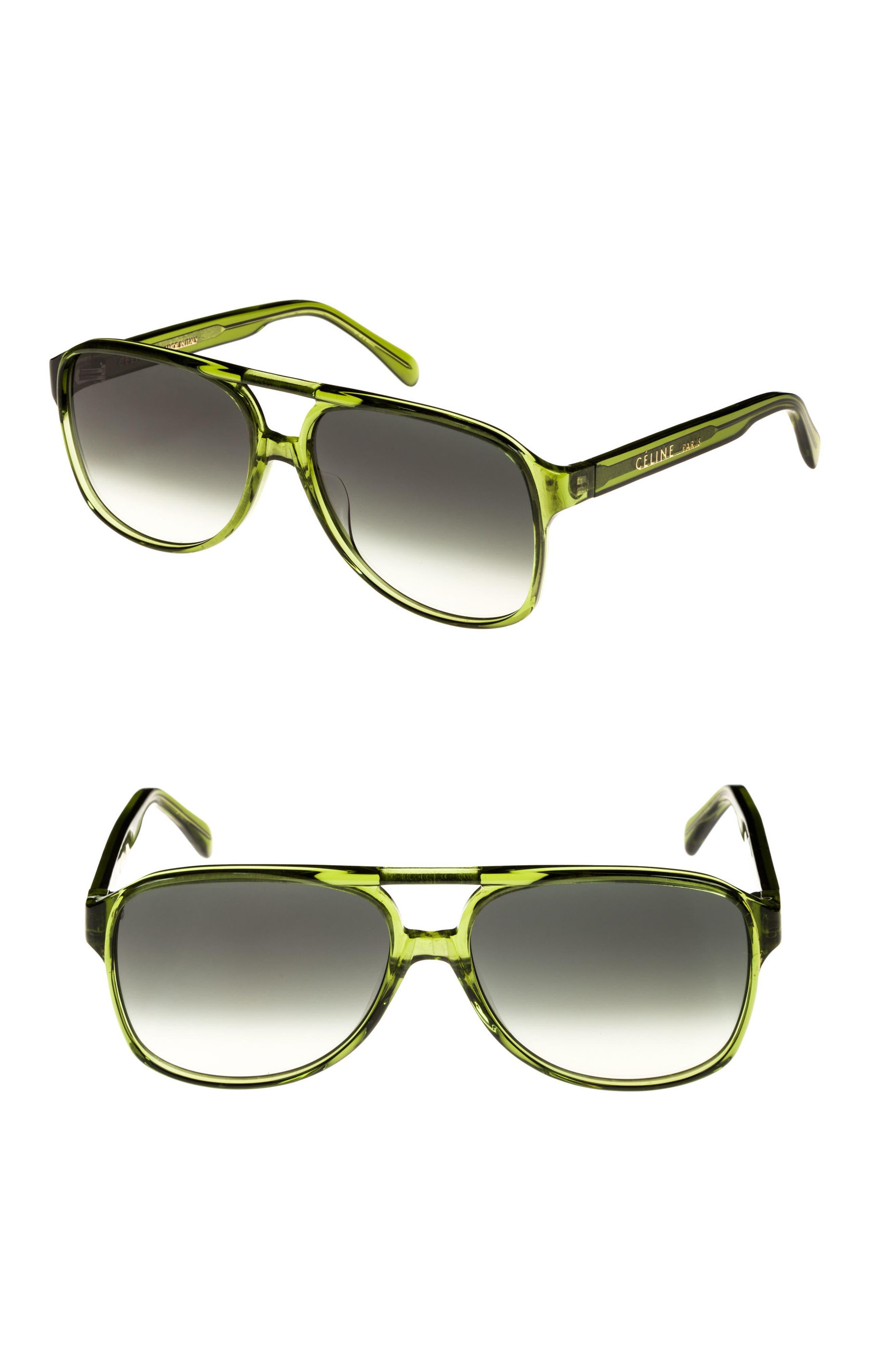 Céline 62mm Oversize Aviator Sunglasses