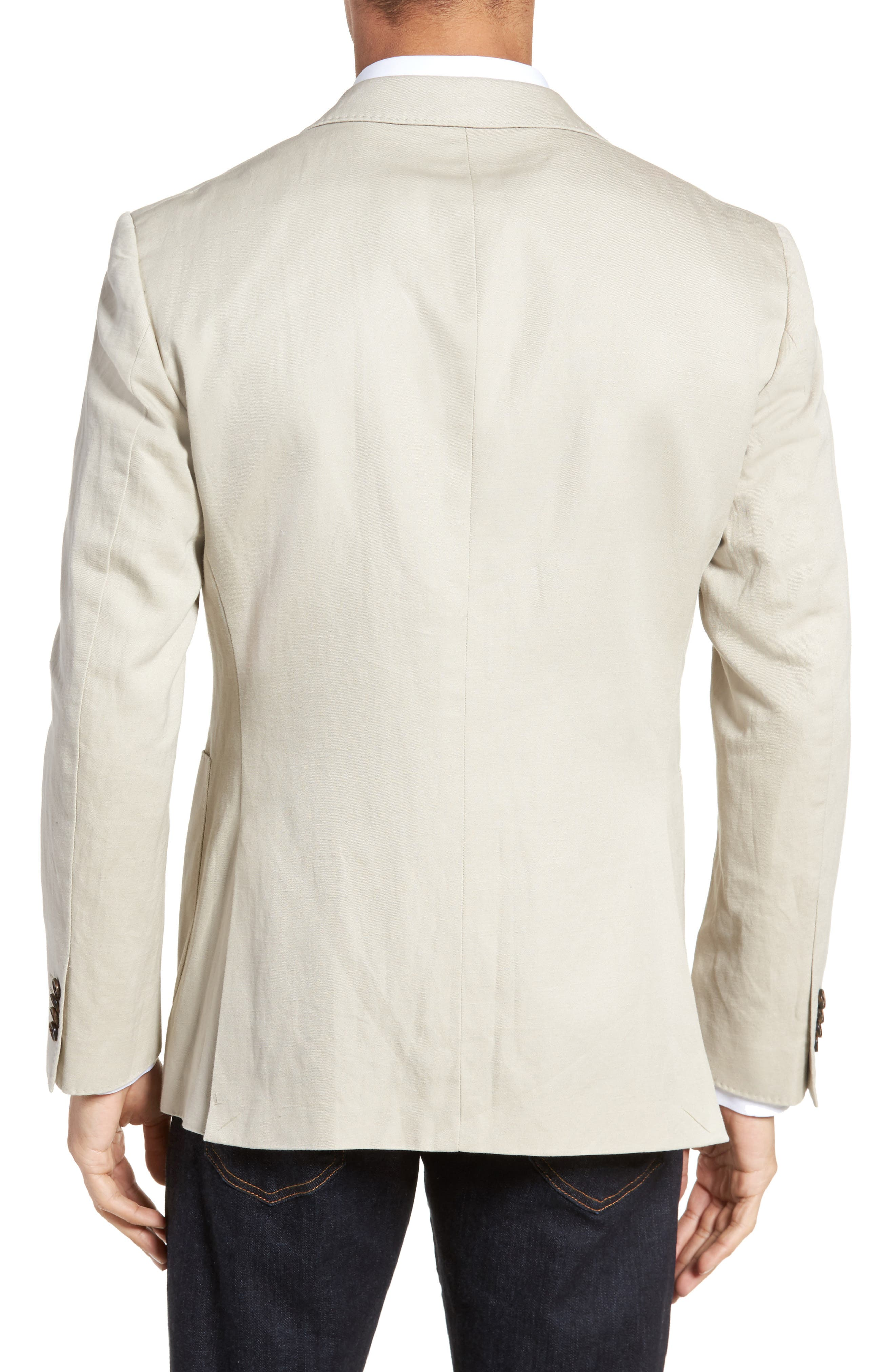Maxwell Valley Cotton & Linen Sport Coat,                             Alternate thumbnail 2, color,                             Natural