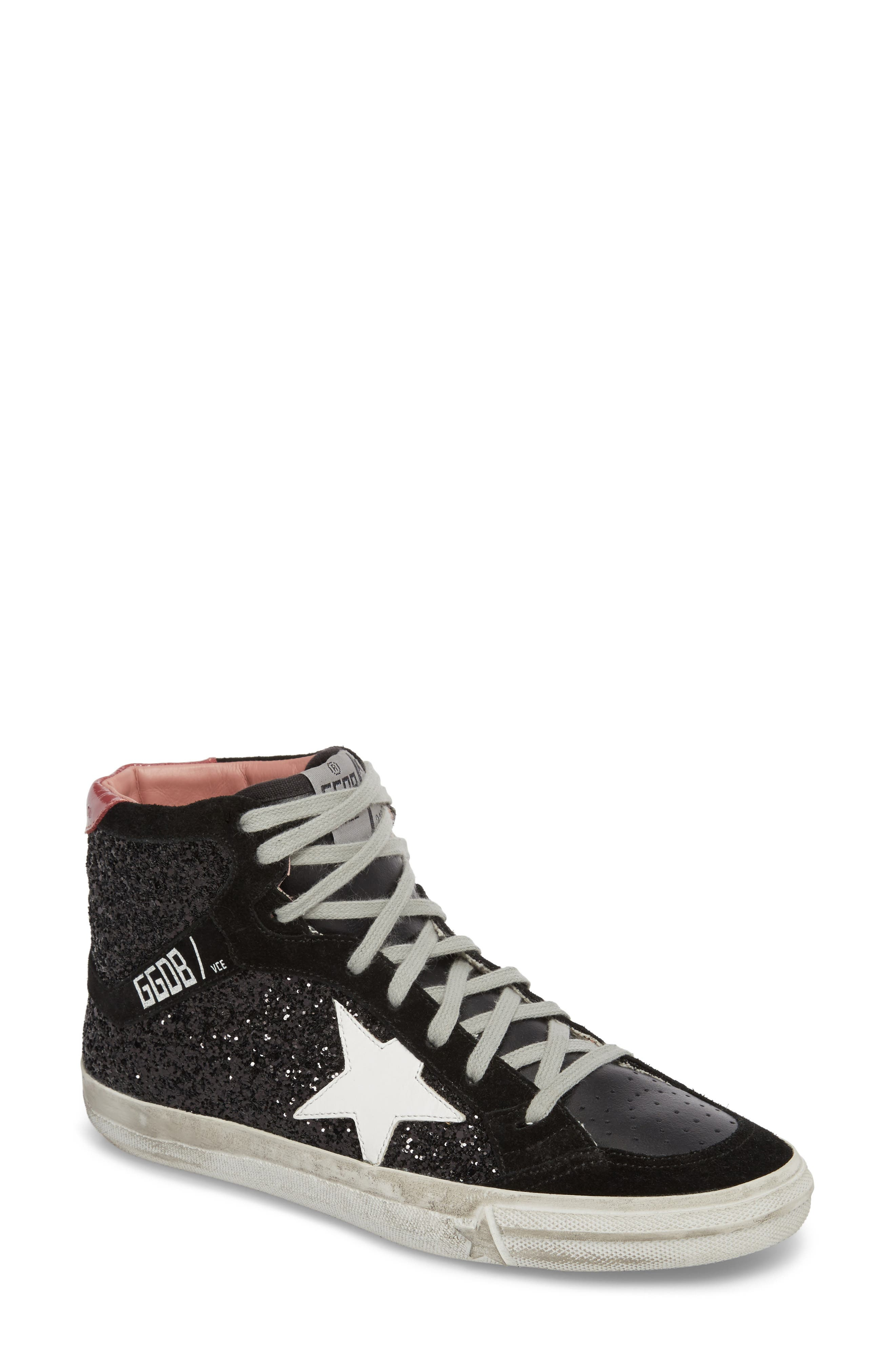 2.12 Star High Top Sneaker,                         Main,                         color, Black