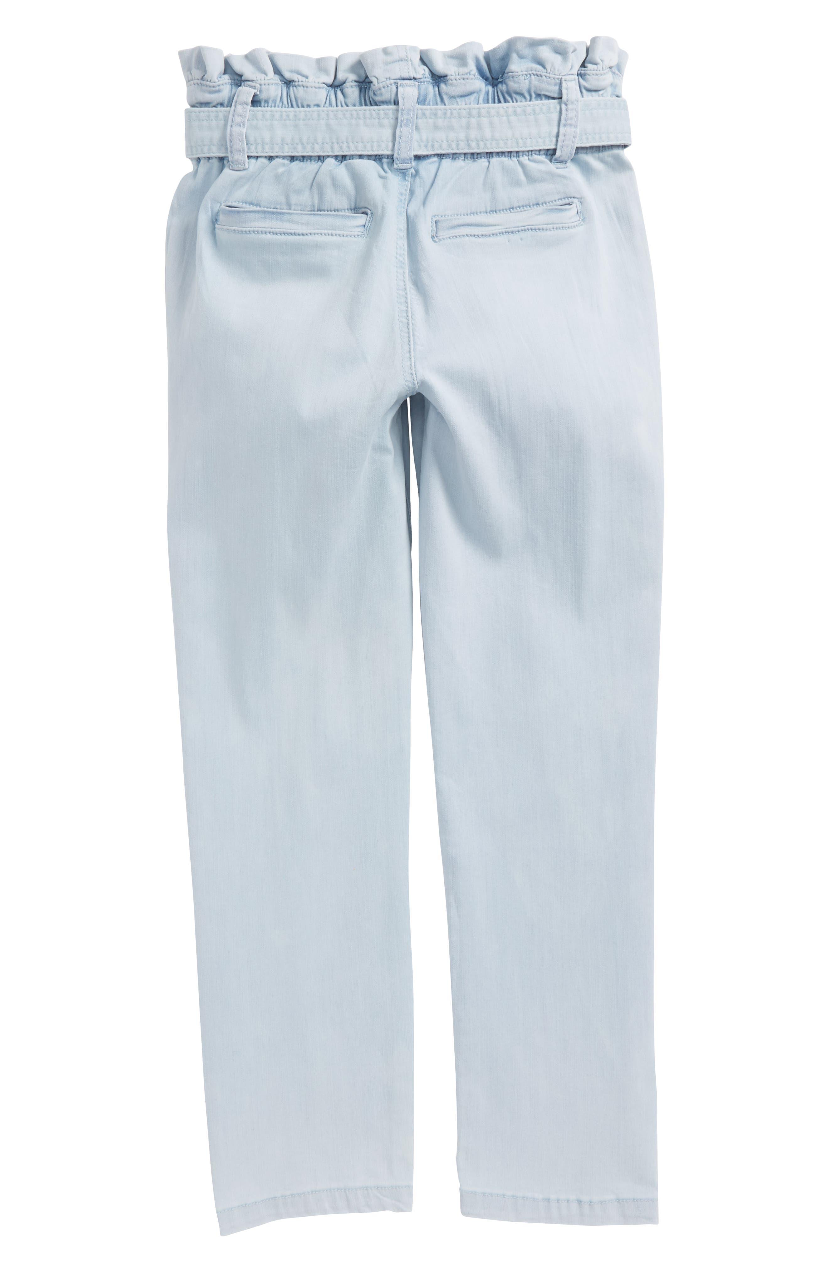 Paper Bag Crop Pants,                             Alternate thumbnail 2, color,                             Sun Bleached