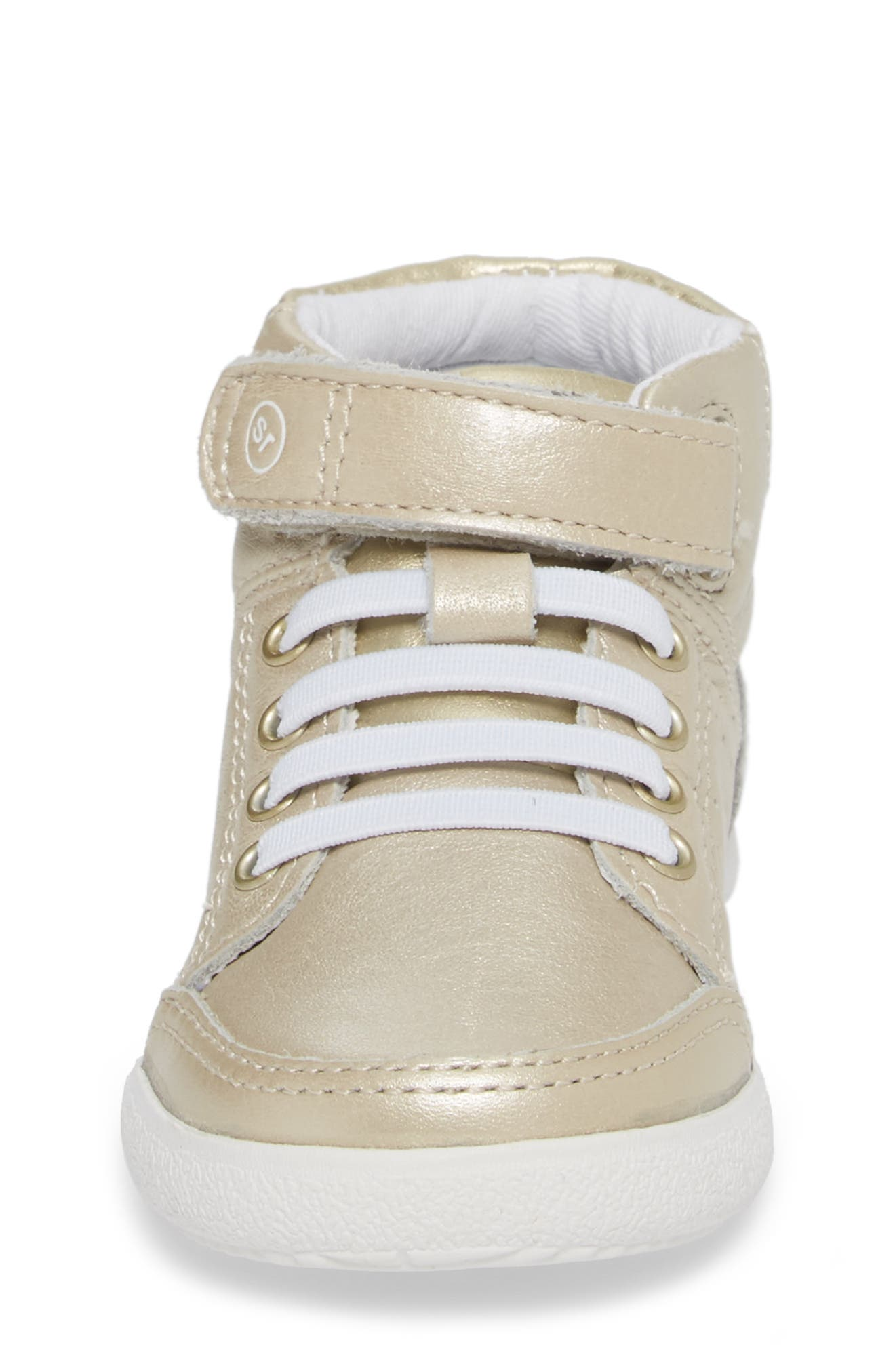Stone High Top Sneaker,                             Alternate thumbnail 4, color,                             Champagne Leather