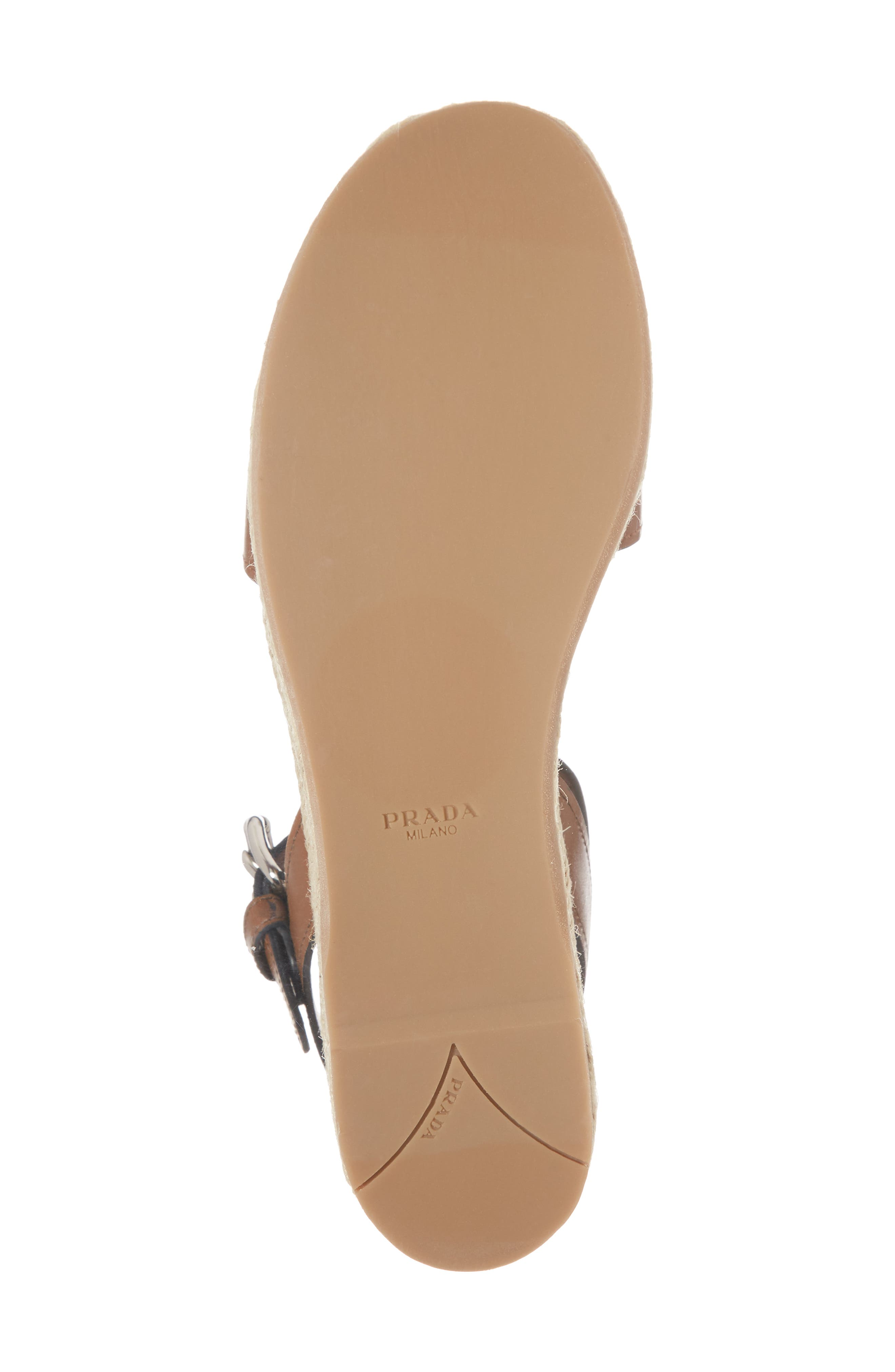 Platform Espadrille Sandal,                             Alternate thumbnail 6, color,                             Nude