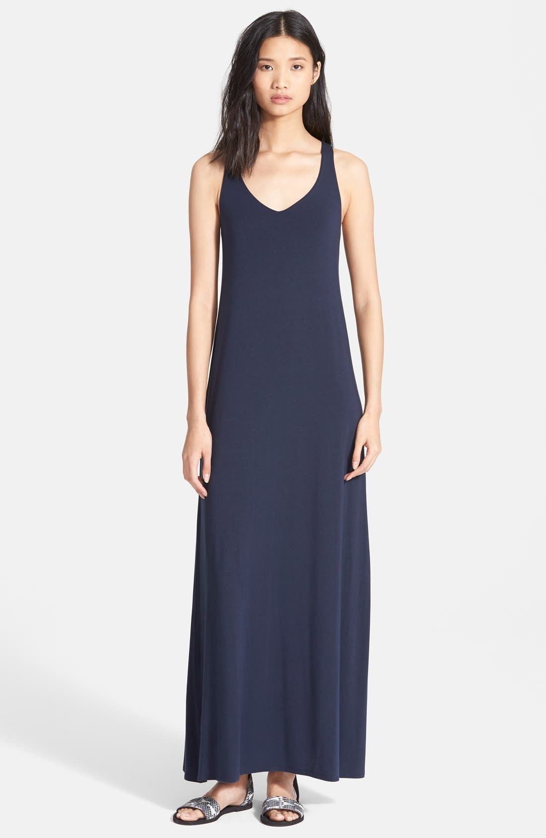 Main Image - Vince V-Neck Maxi Dress (Nordstrom Exclusive)