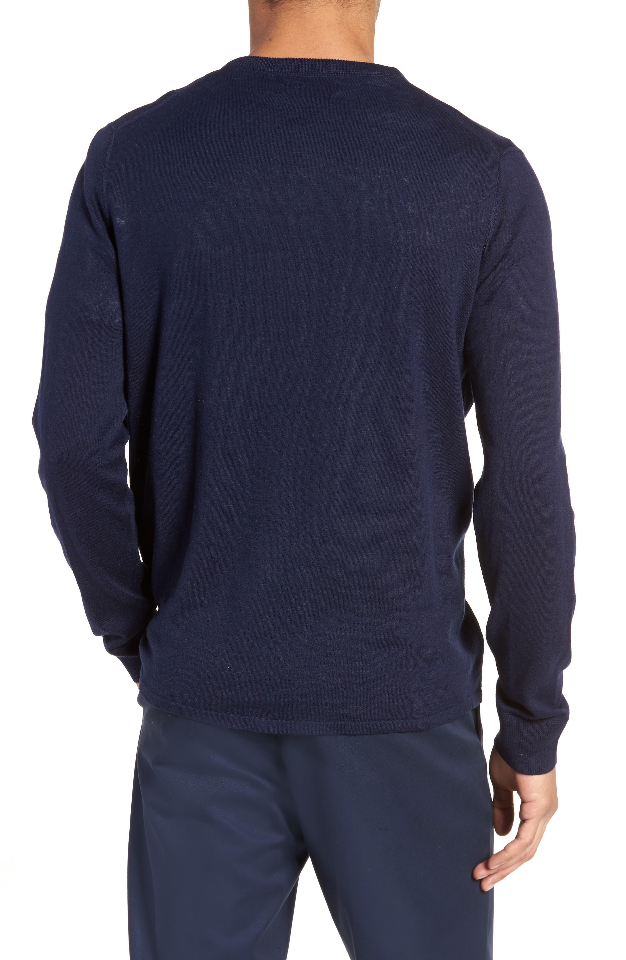 Alternate Image 2  - Nordstrom Men's Shop Long Sleeve Cotton & Linen Blend Henley