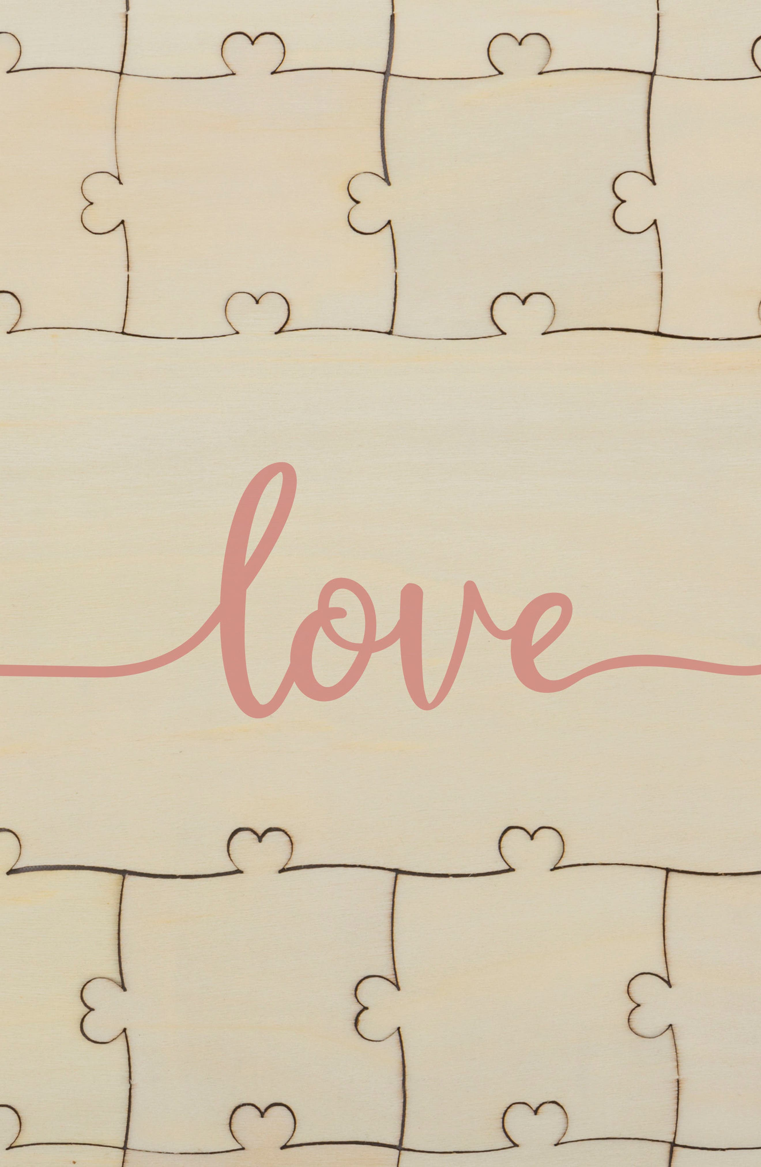 Love Guest Book Puzzle,                             Alternate thumbnail 5, color,                             Brown
