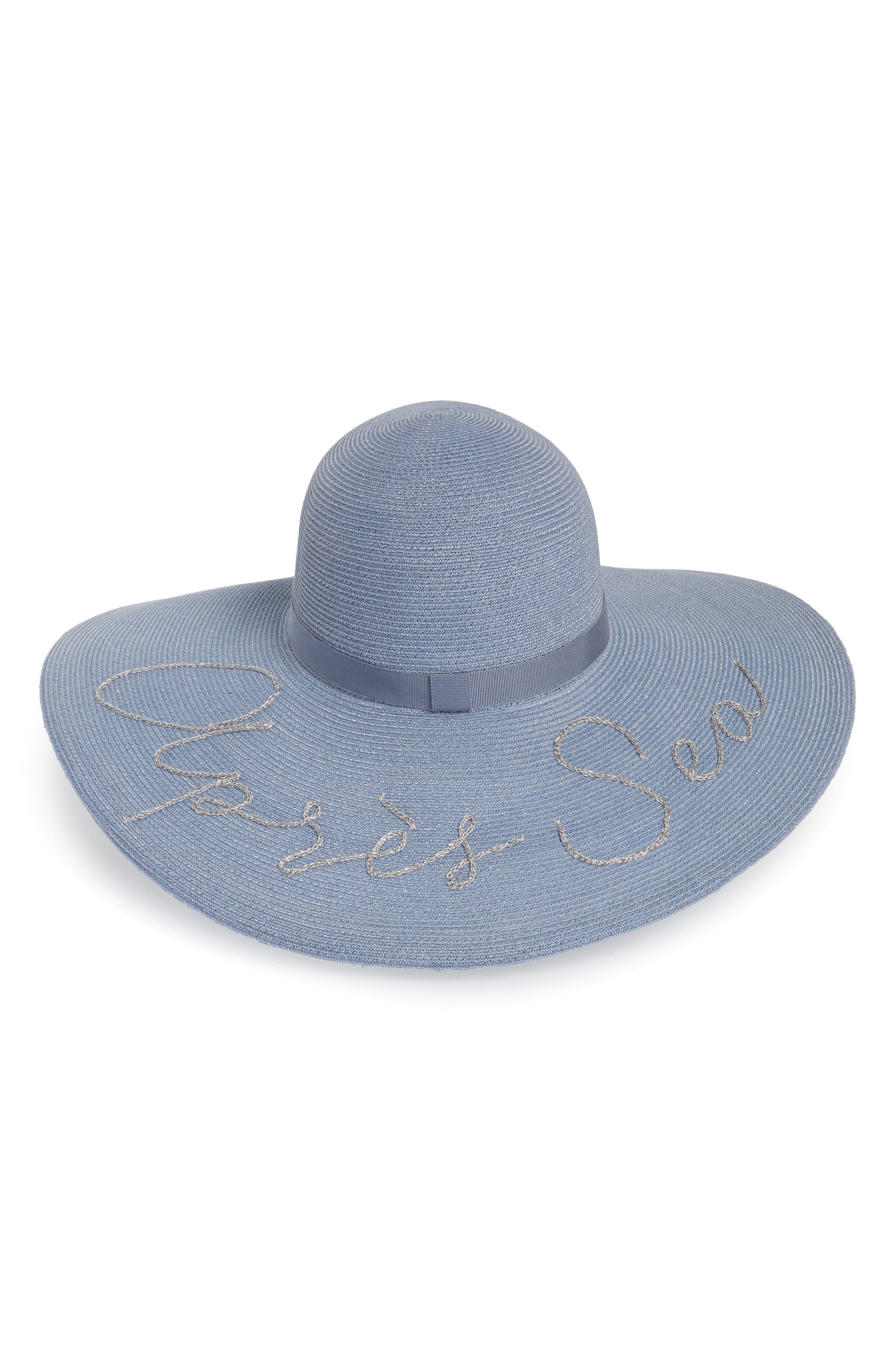 Bunny Après Sea Sun Hat,                         Main,                         color, Blue
