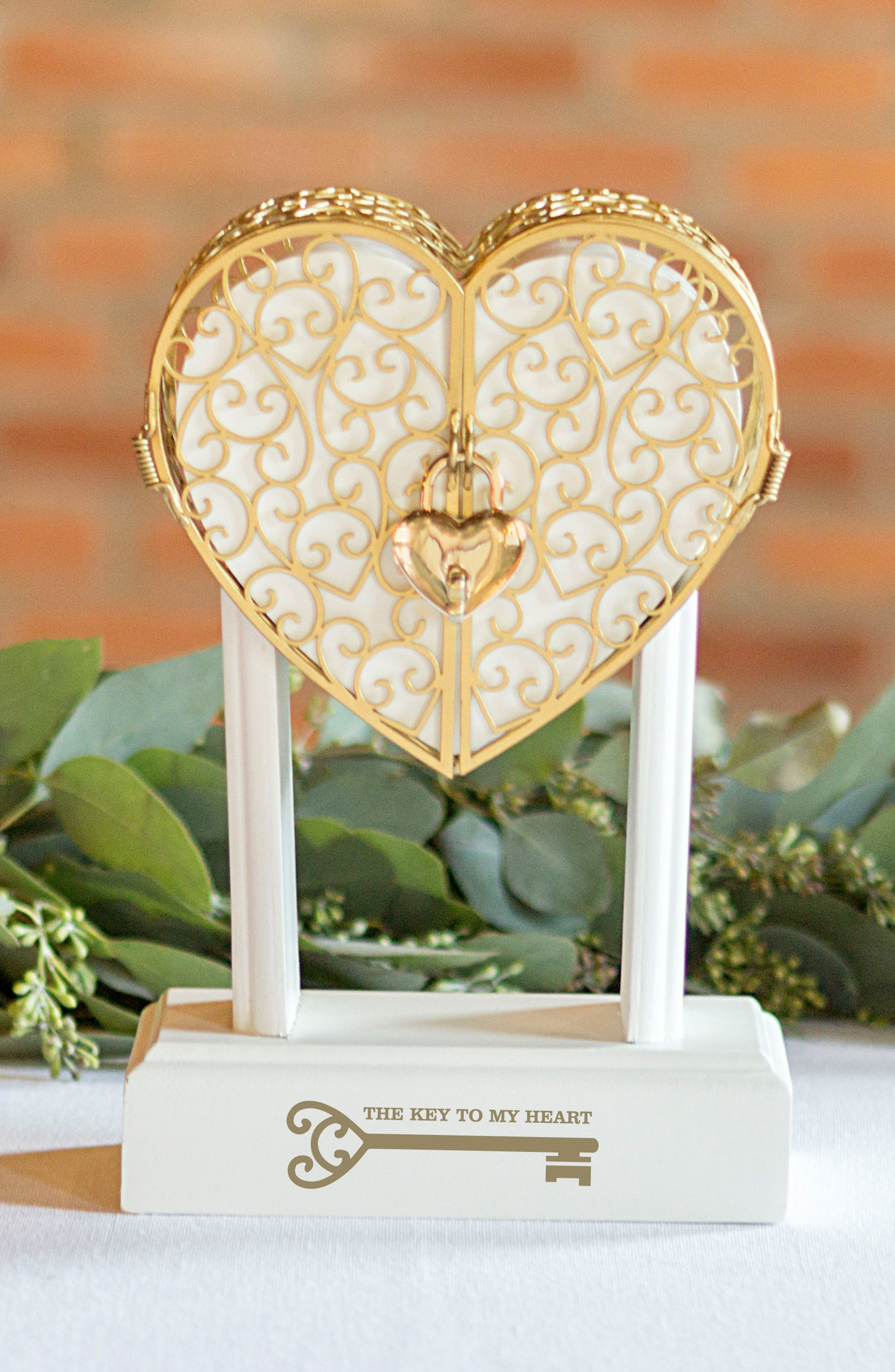 Alternate Image 9  - Cathy's Concepts Key To My Heart Vow Unity Keepsake Box