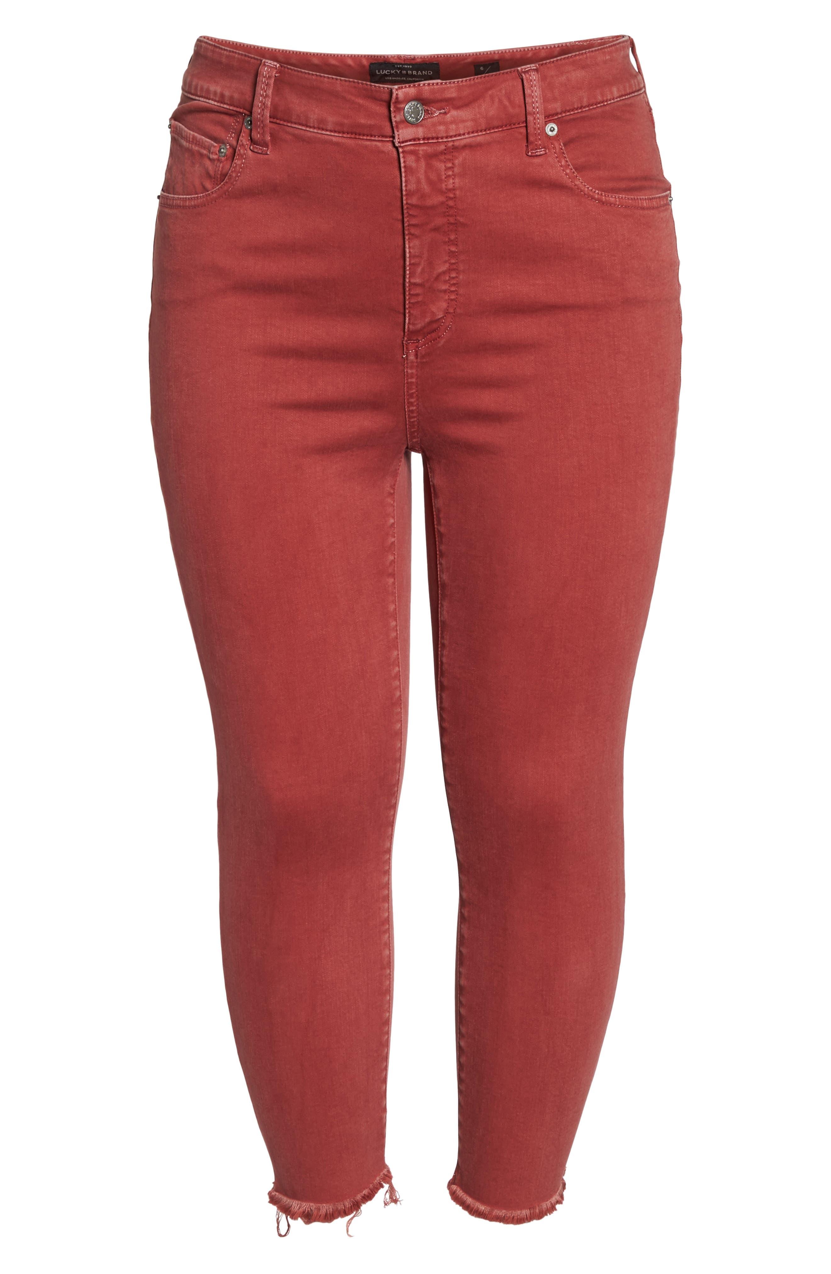 Emma Crop Jeans,                             Alternate thumbnail 7, color,                             La Cara