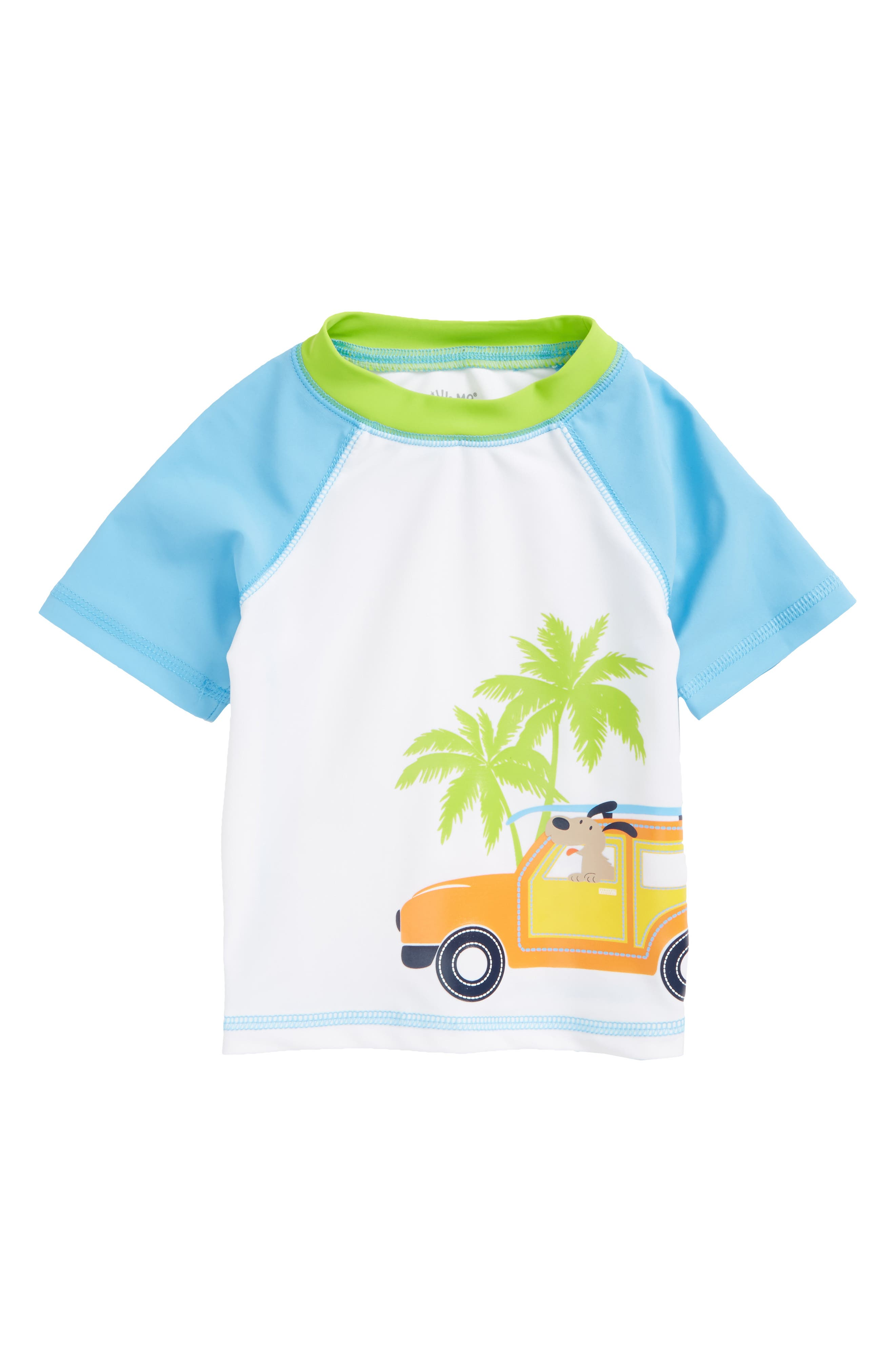 Little Me Palm UPF 50+ Short Sleeve Rashguard (Baby Boys)