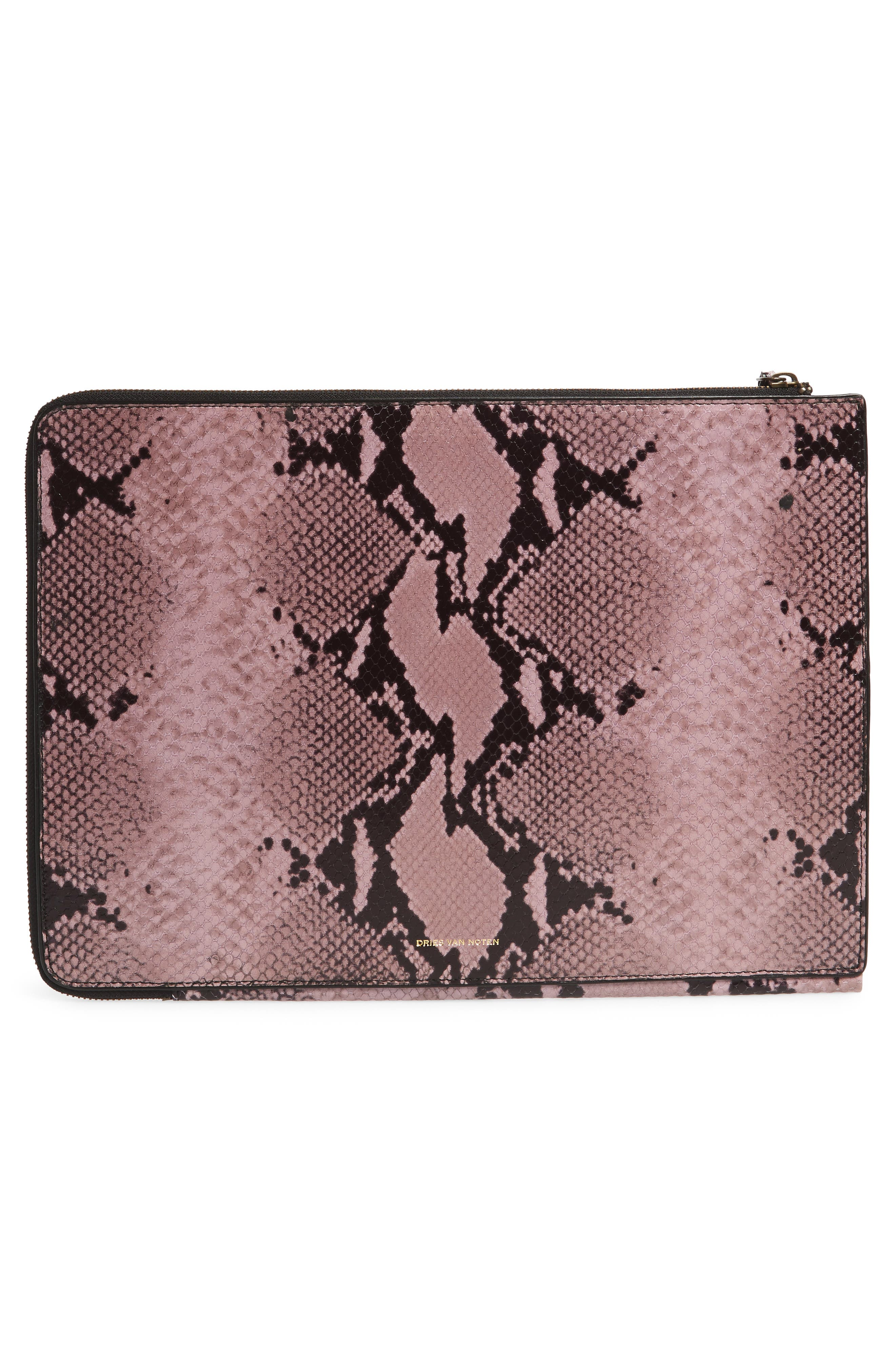 Leather Laptop Sleeve,                             Alternate thumbnail 2, color,                             Lilac