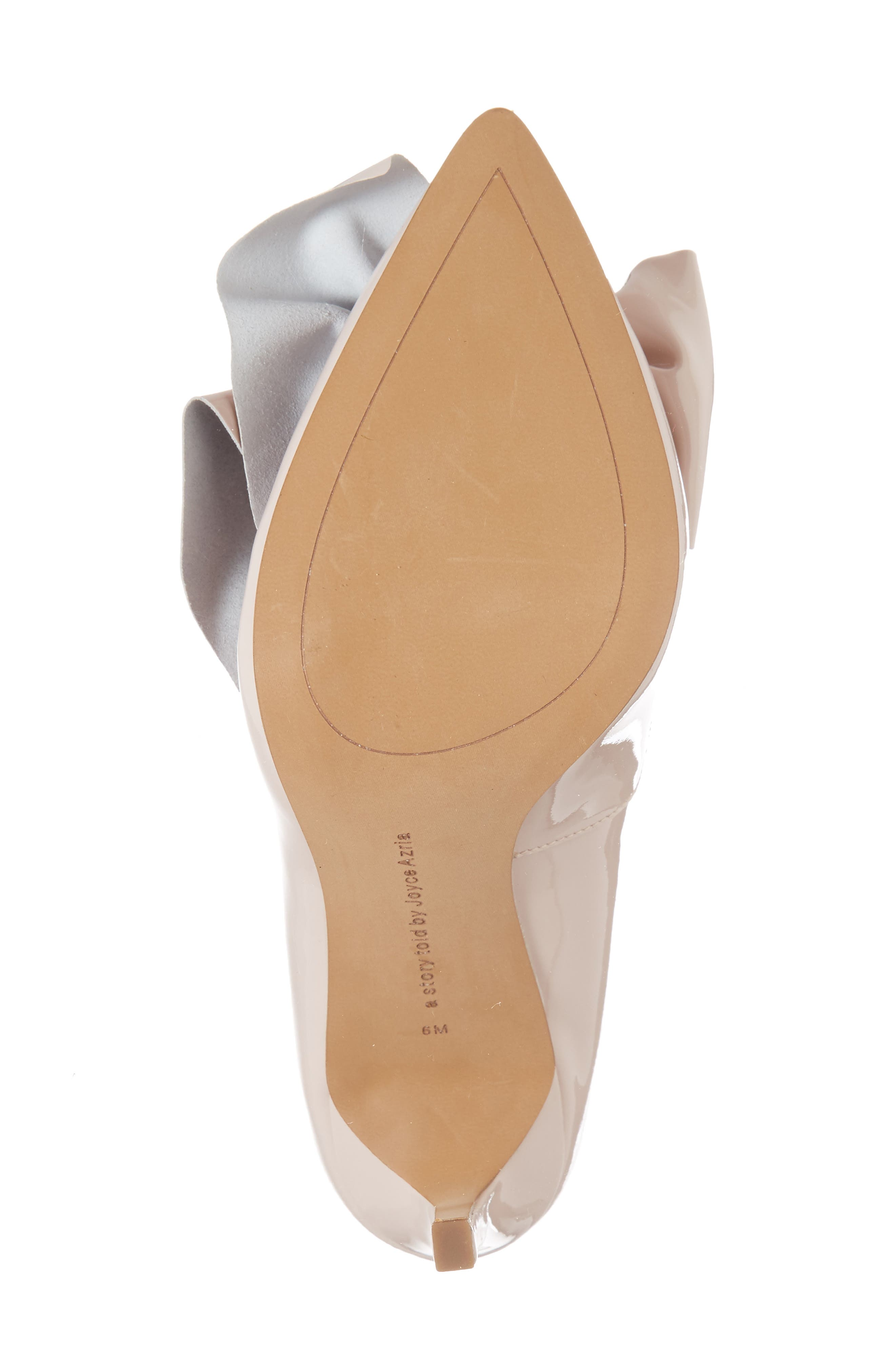 Bow Pointy Toe Pump,                             Alternate thumbnail 6, color,                             Avec Pink Leather