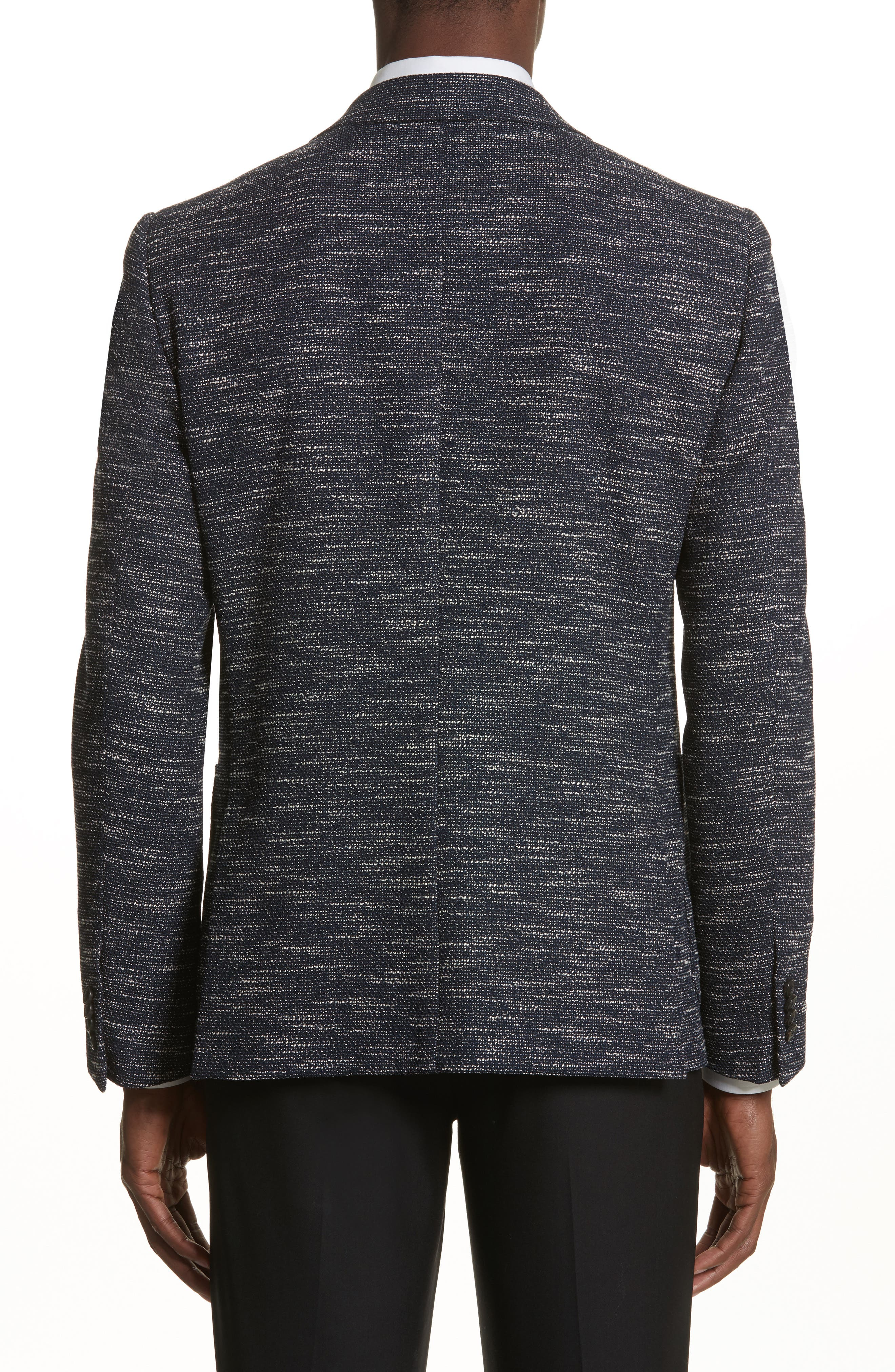 Classic Fit Stretch Wool Blend Blazer,                             Alternate thumbnail 2, color,                             Navy Solid