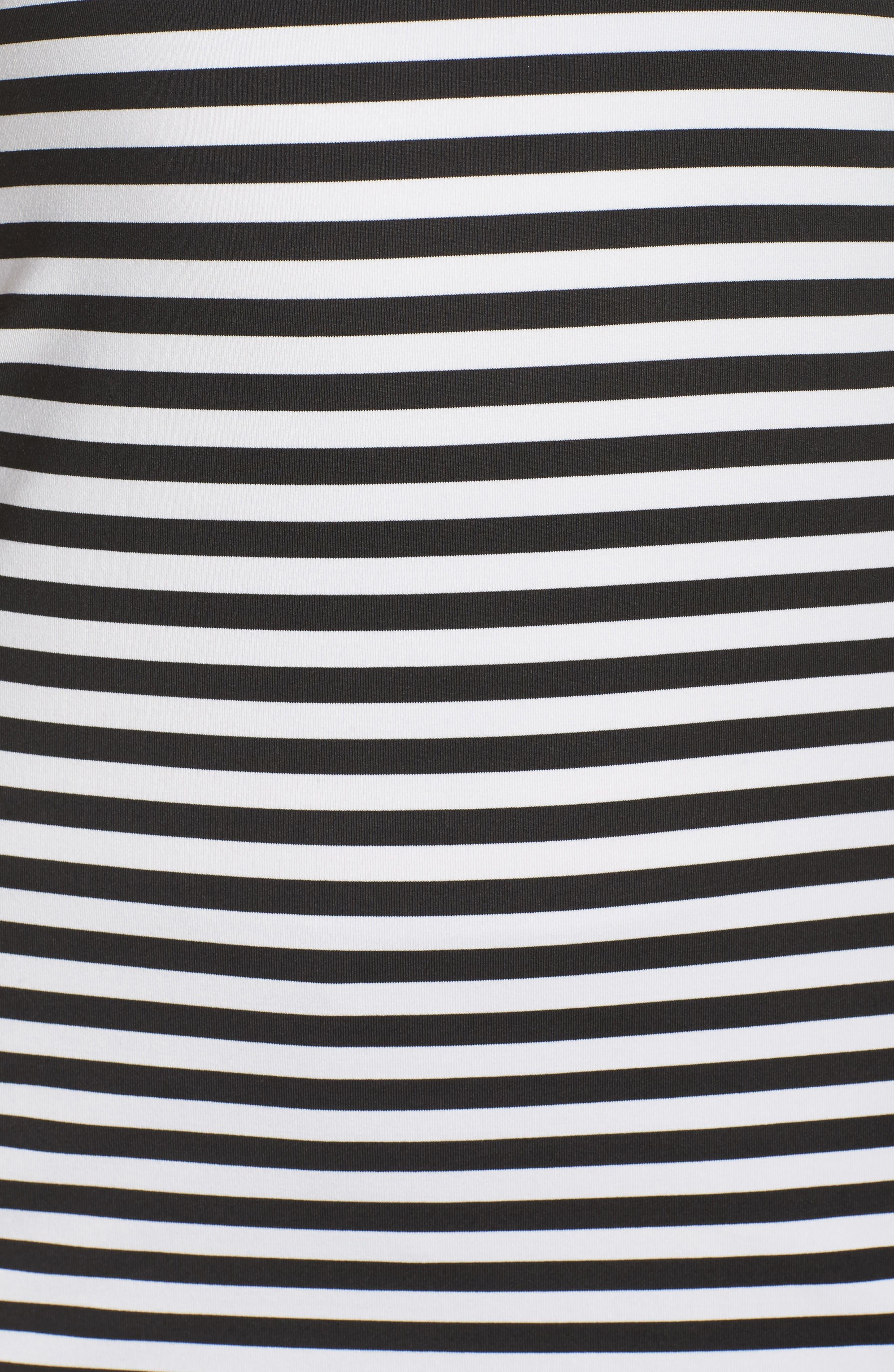 'Go-To' Racerback Tank,                             Alternate thumbnail 6, color,                             White/ Black Stripe/ White