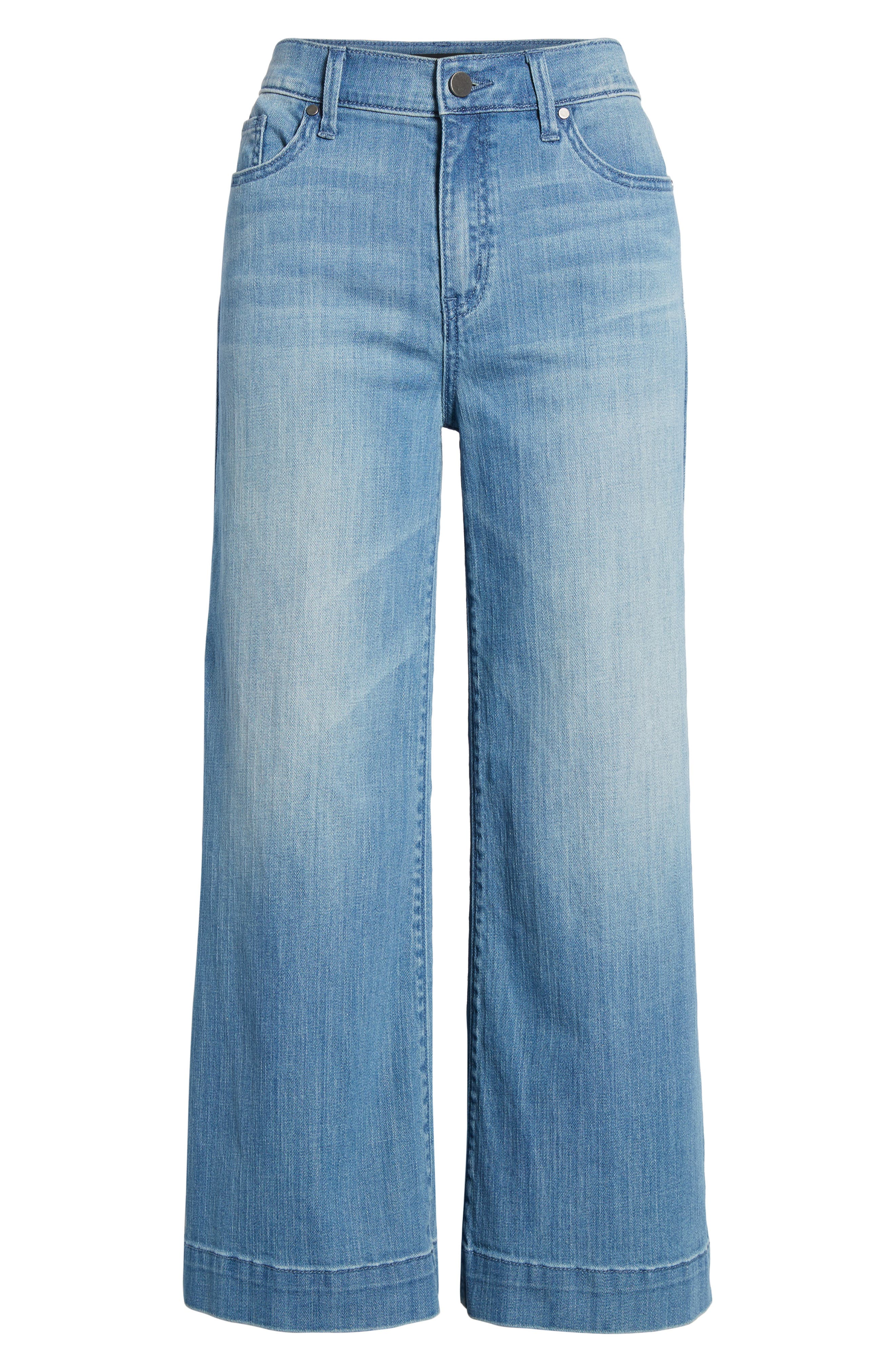 Wide Leg Cropped Jeans,                             Alternate thumbnail 8, color,                             Modern Wash