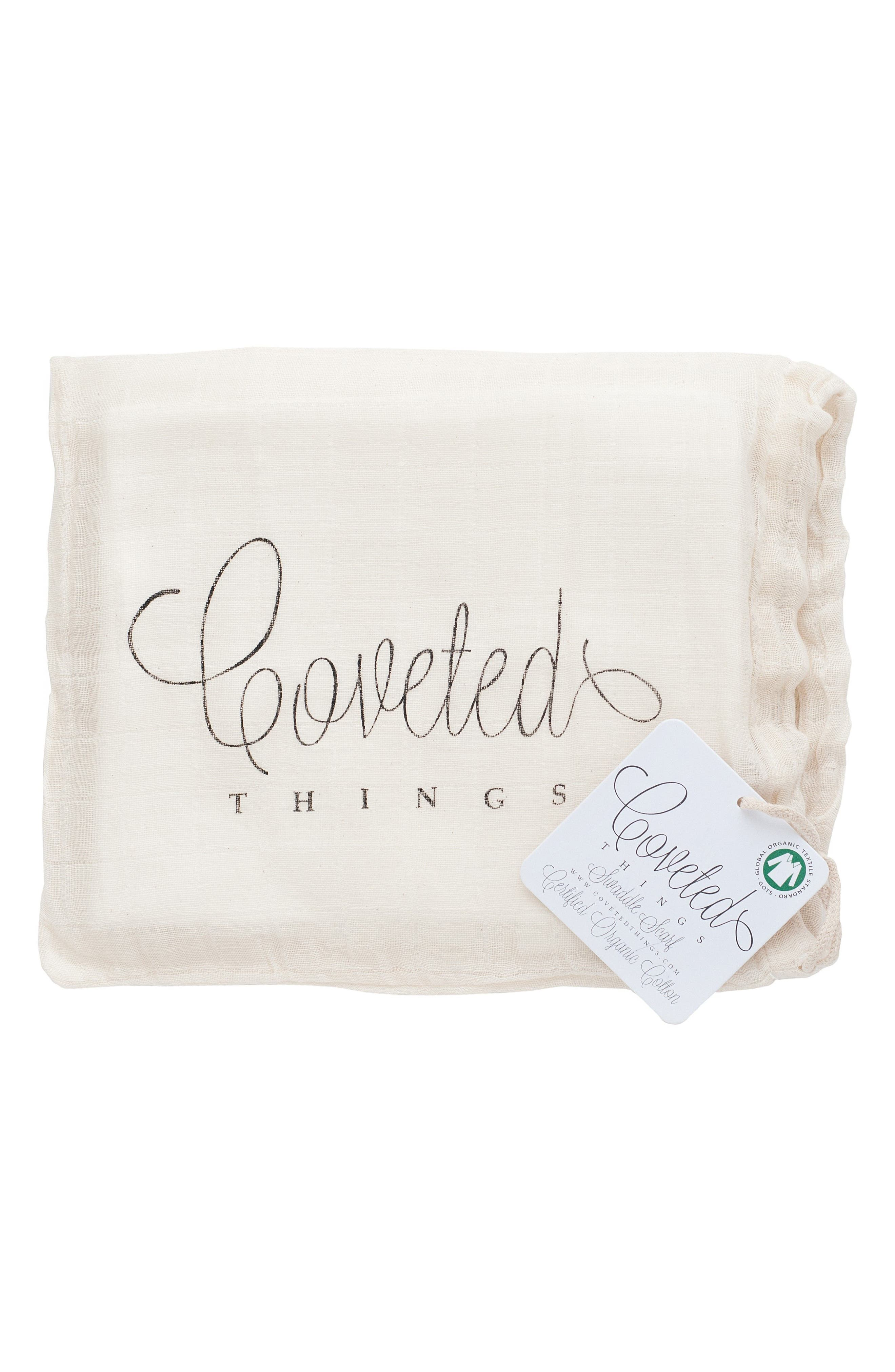 Alternate Image 4  - Coveted Things Crowns Organic Cotton Swaddle Scarf