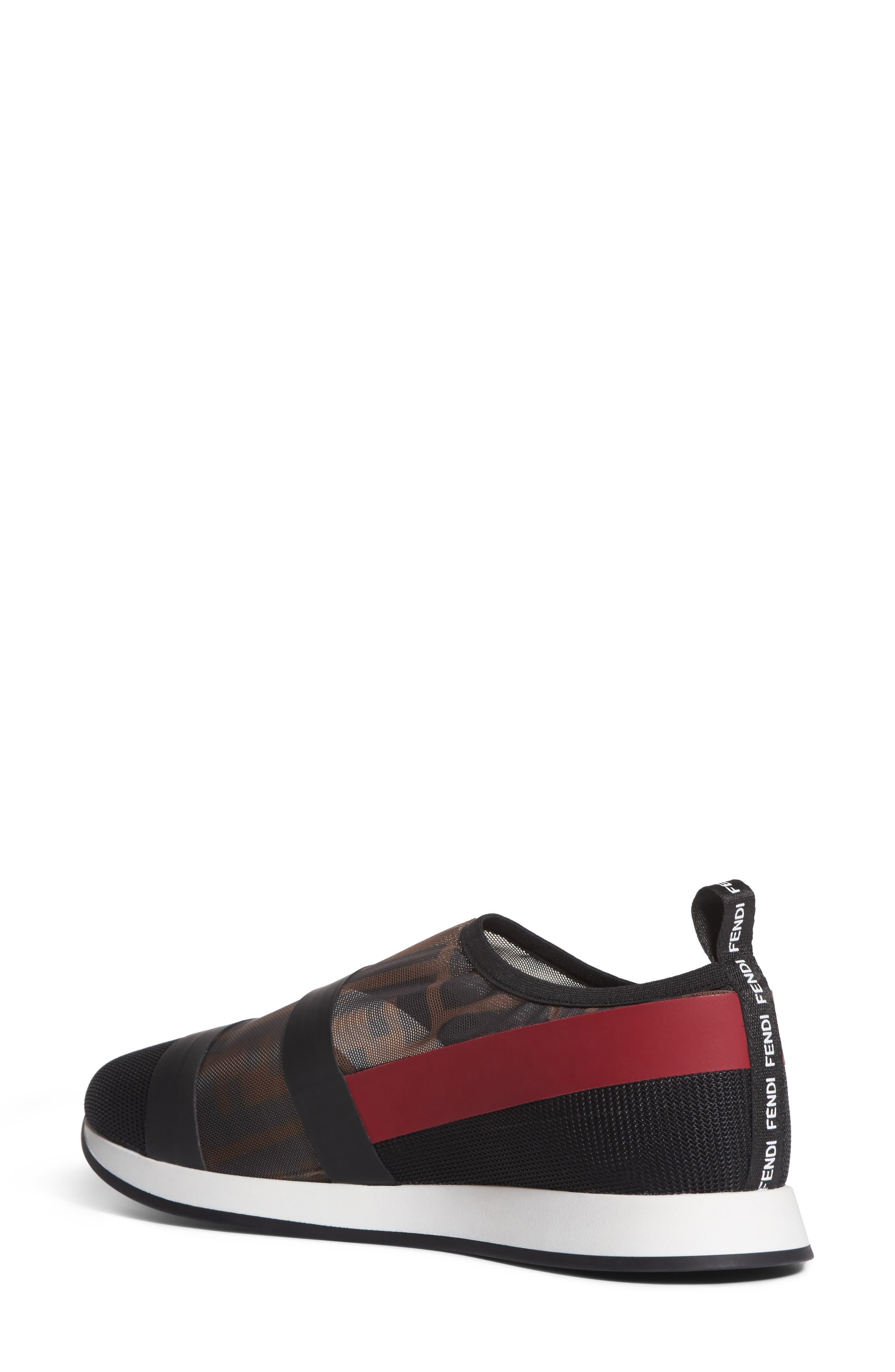 Logo Slip-On Sneaker,                             Alternate thumbnail 2, color,                             Black/ Red