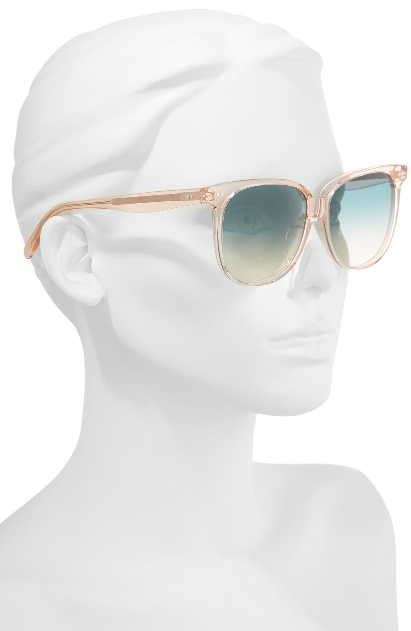 Special Fit 58mm Square Sunglasses,                             Alternate thumbnail 2, color,                             Baby Pink/ Turquoise