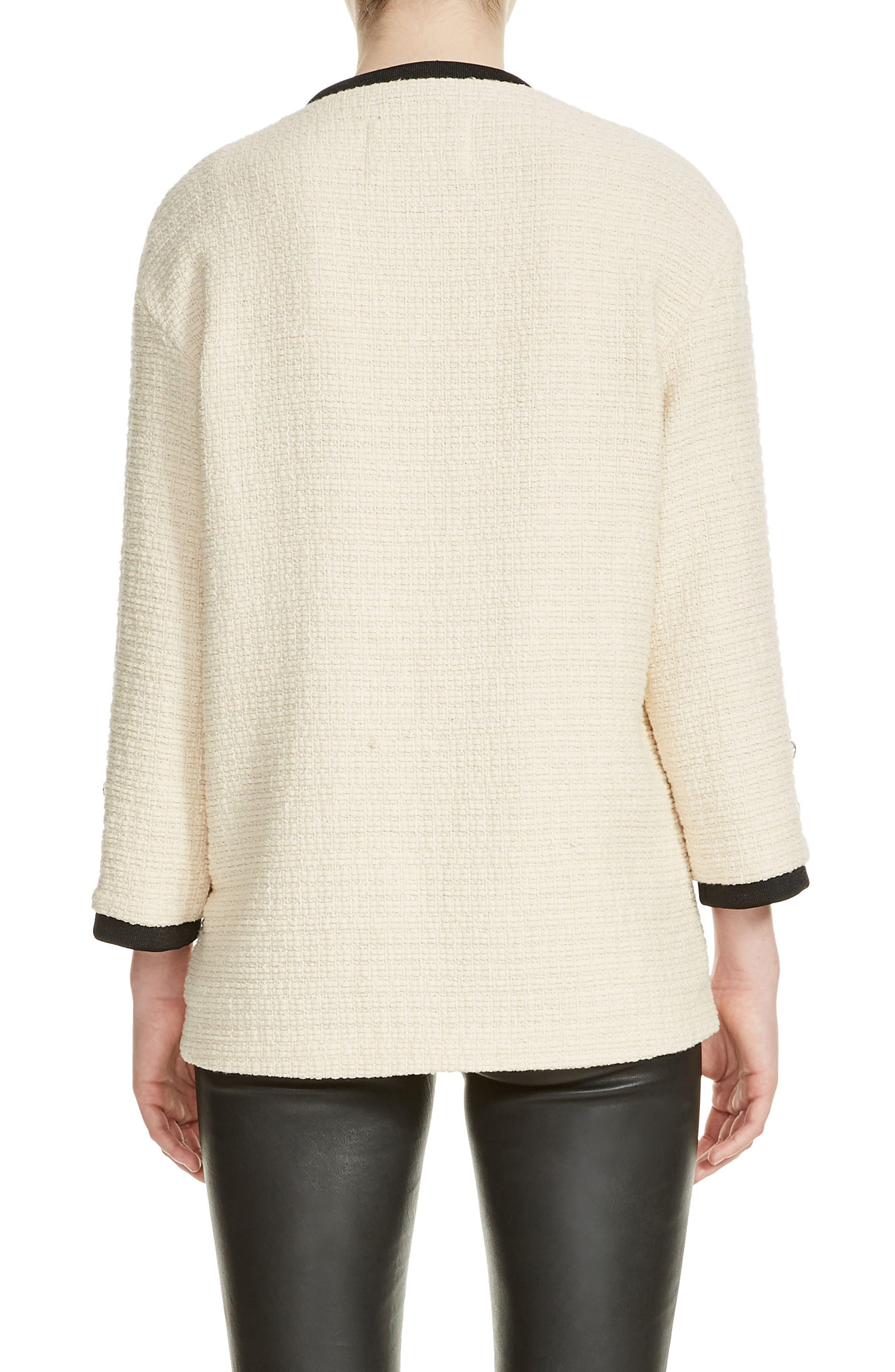 Tweed Jacket,                             Alternate thumbnail 2, color,                             Ecru