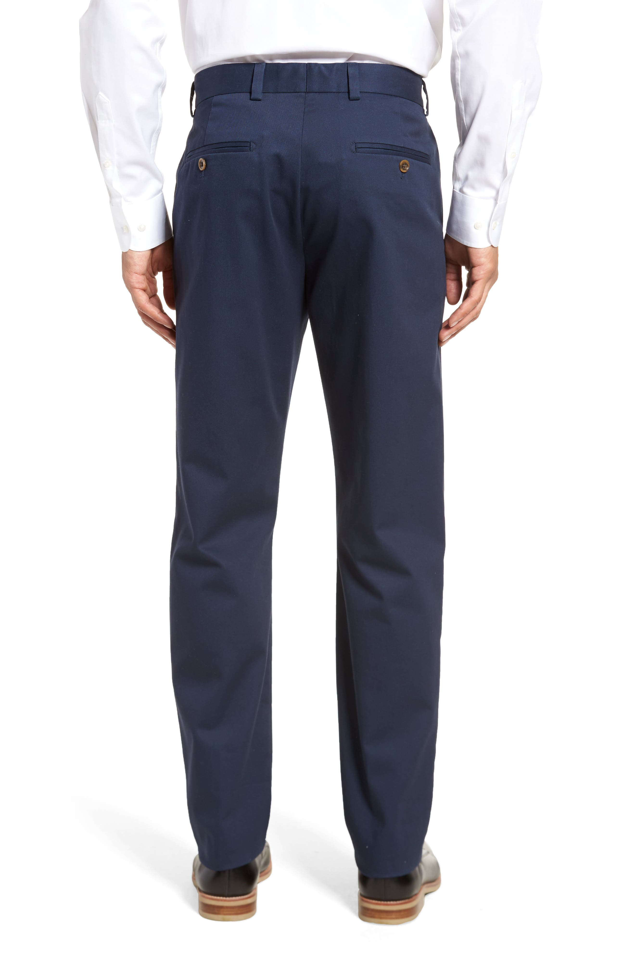 Alternate Image 2  - Nordstrom Men's Shop Wrinkle Free Straight Leg Chinos