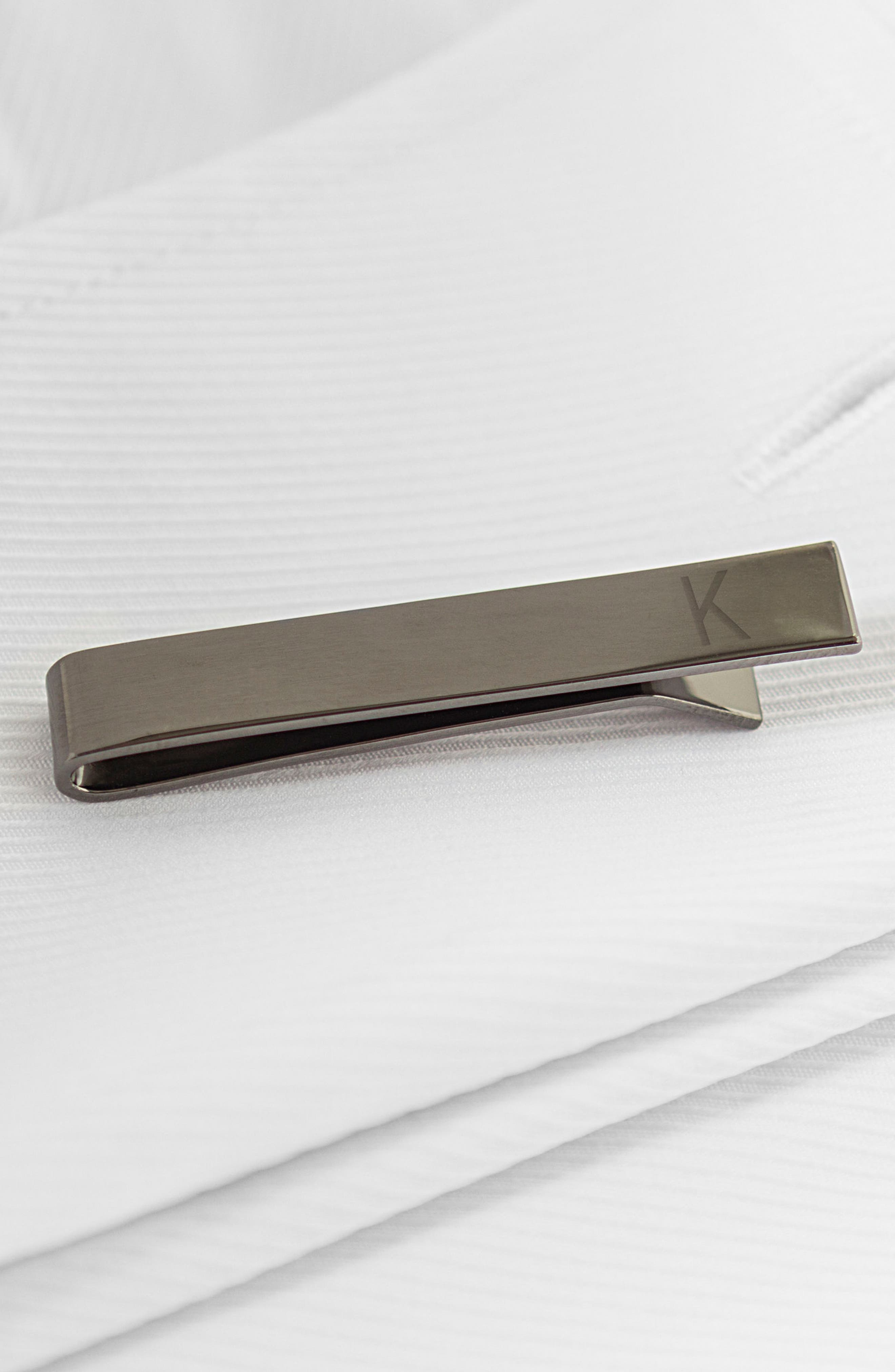 Monogram Tie Clip,                             Alternate thumbnail 3, color,