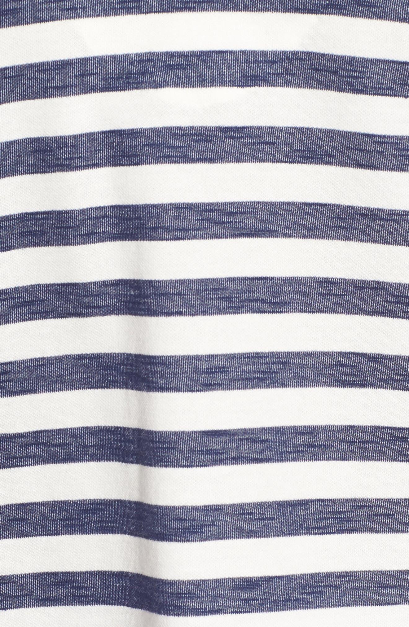 Ponte Stripe Top,                             Alternate thumbnail 5, color,                             Marshmallow