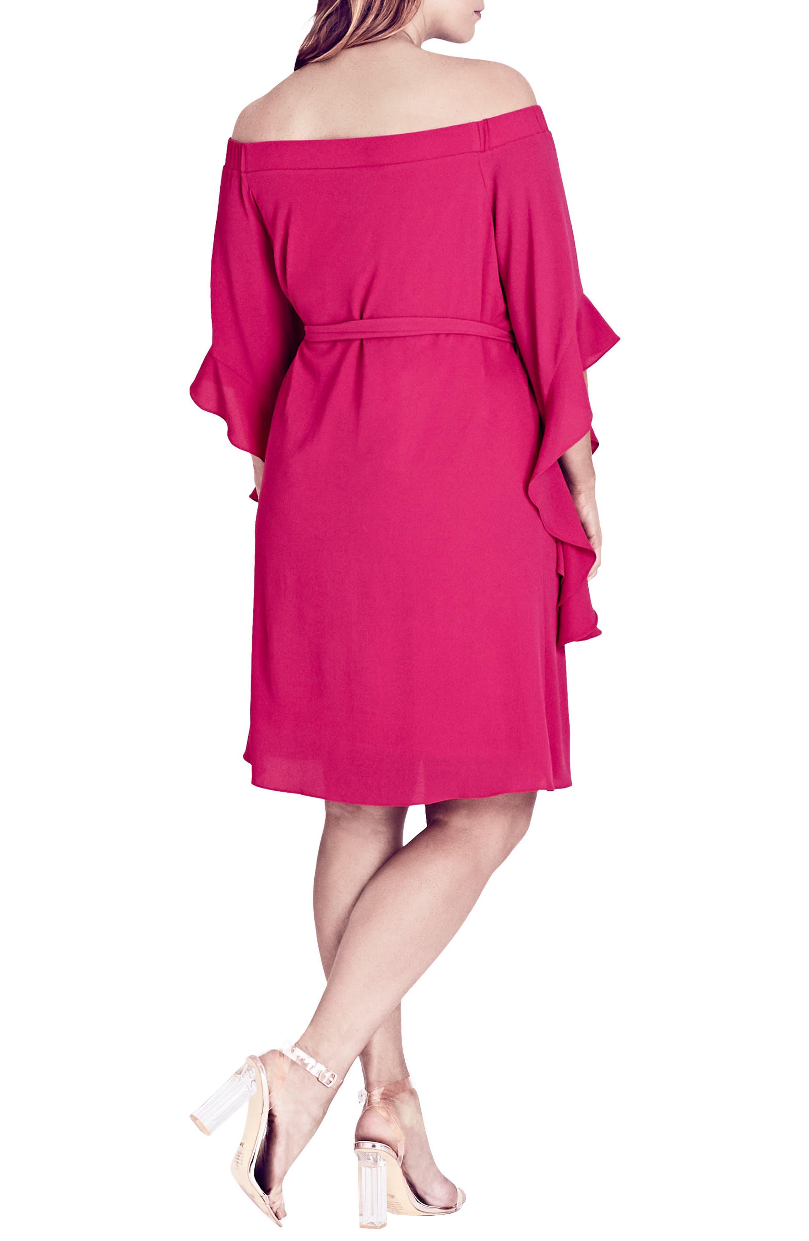 Alternate Image 2  - City Chic Juliet Off the Shoulder Dress (Plus Size)