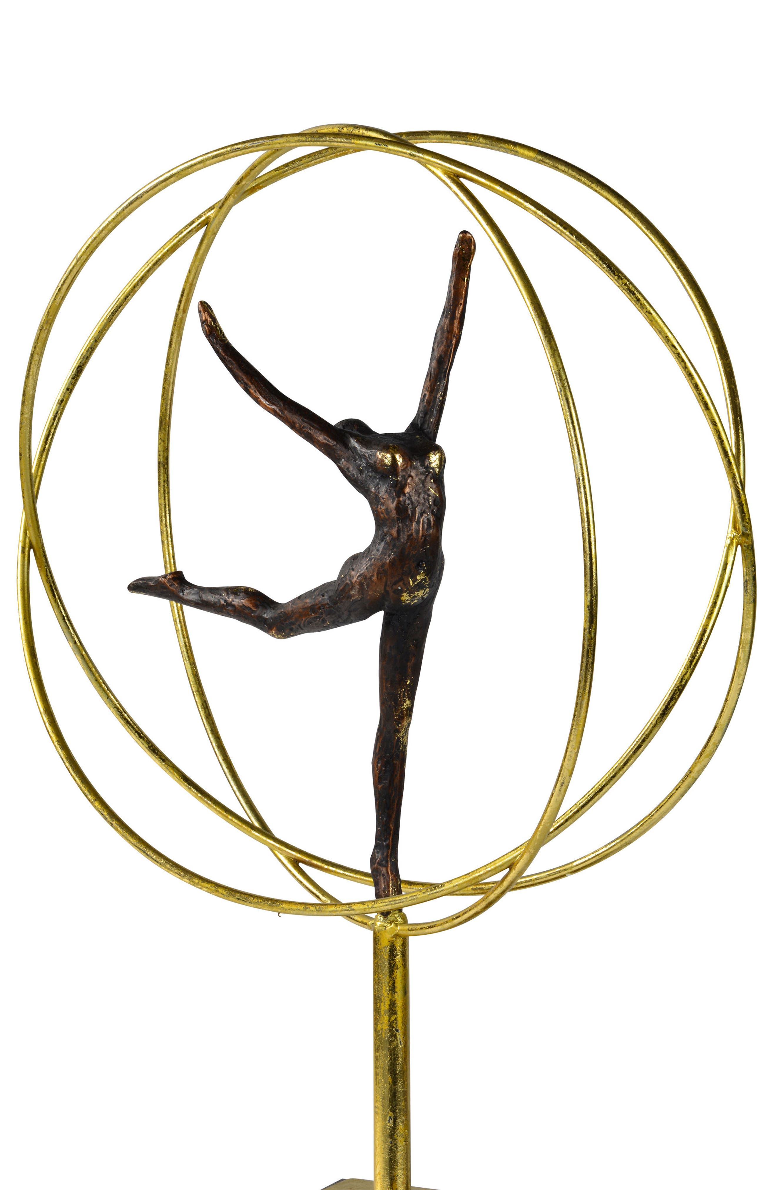Cirque Statue,                             Alternate thumbnail 3, color,                             Gold And Grey