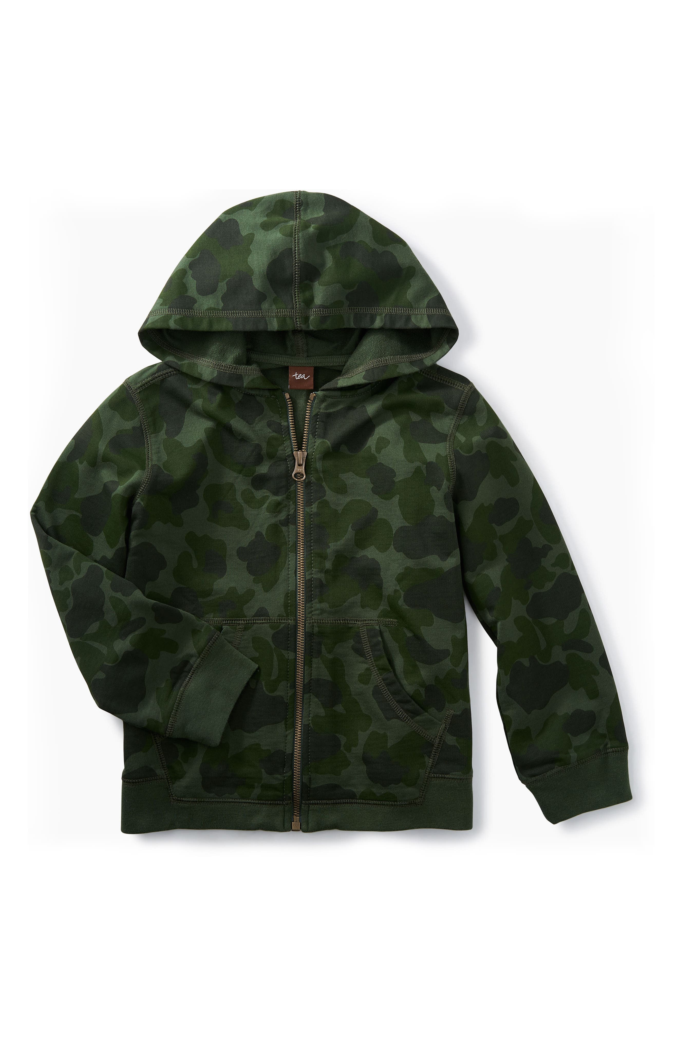 Alternate Image 1 Selected - Tea Collection Zip Hoodie (Toddler Boys & Little Boys)