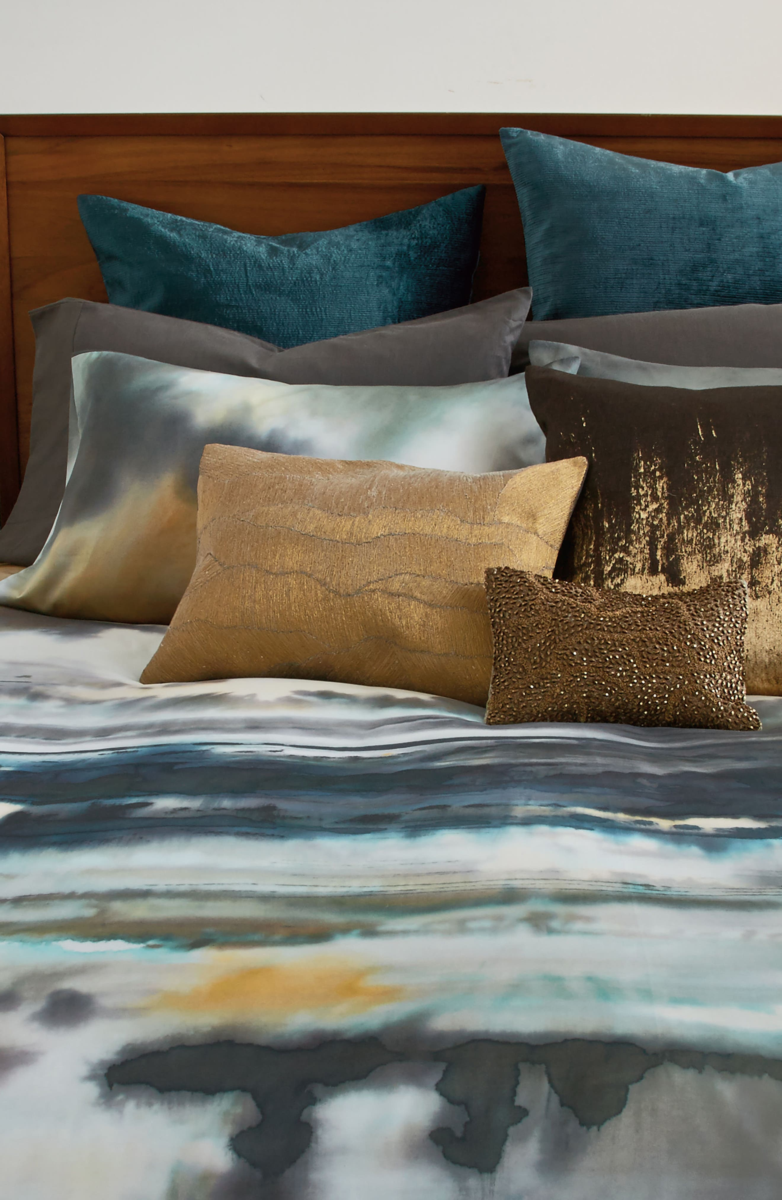 After The Storm Duvet Cover,                             Alternate thumbnail 4, color,                             Surf