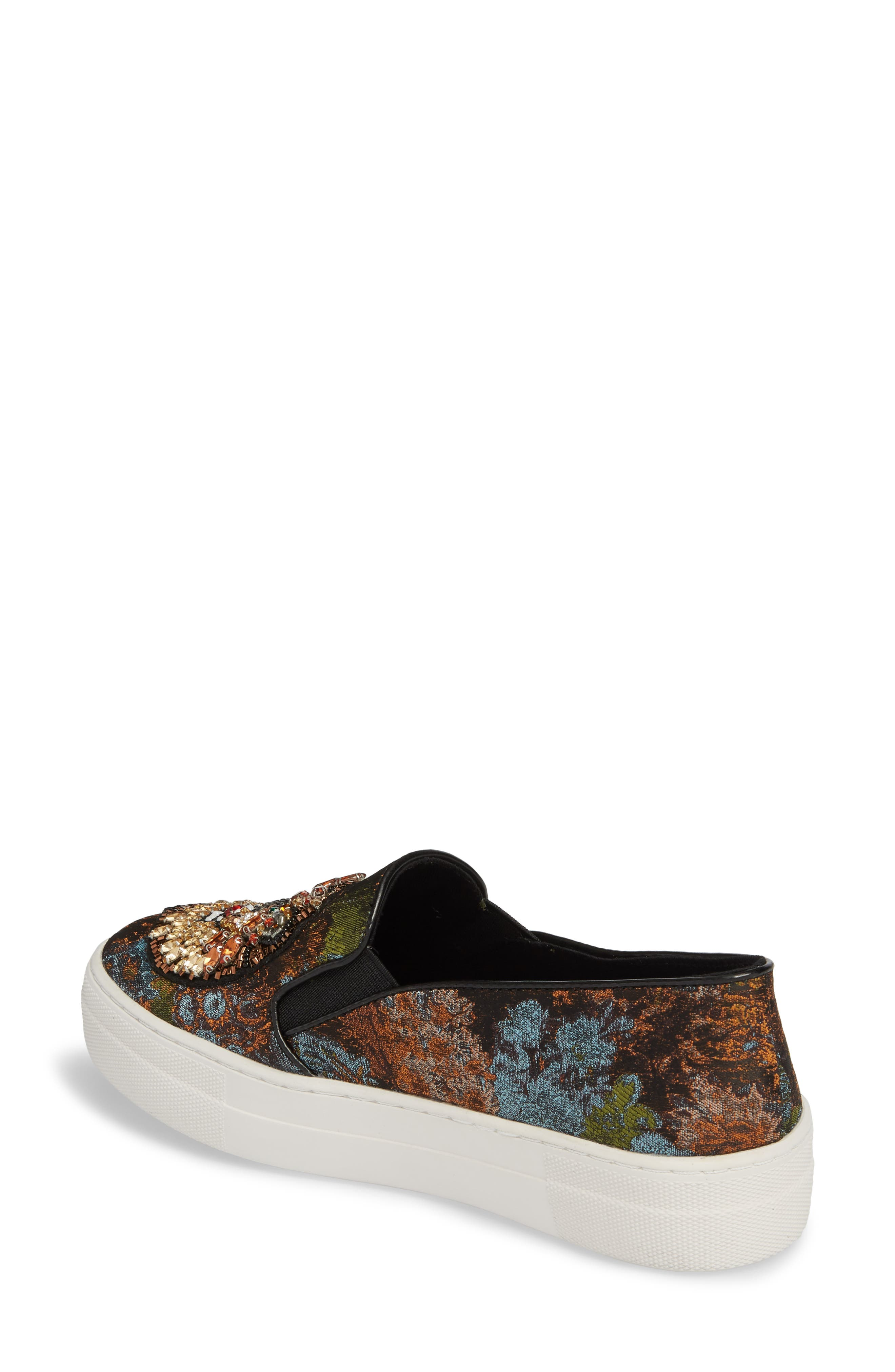 Fiasco Platform Sneaker,                             Alternate thumbnail 2, color,                             Black Multi
