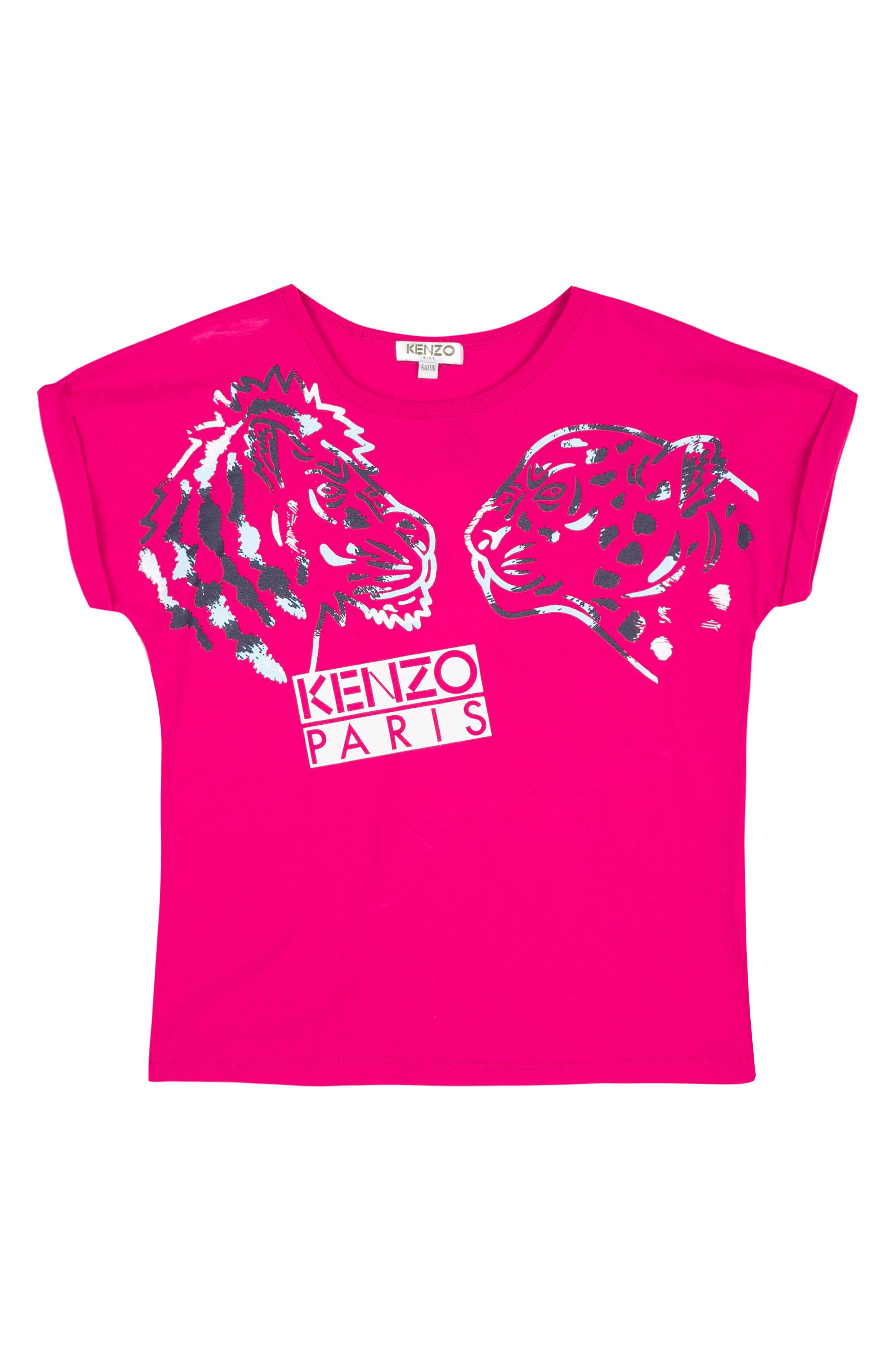 KENZO Tiger & Friend Graphic Tee (Toddler Girls, Little Girls & Big Girls)