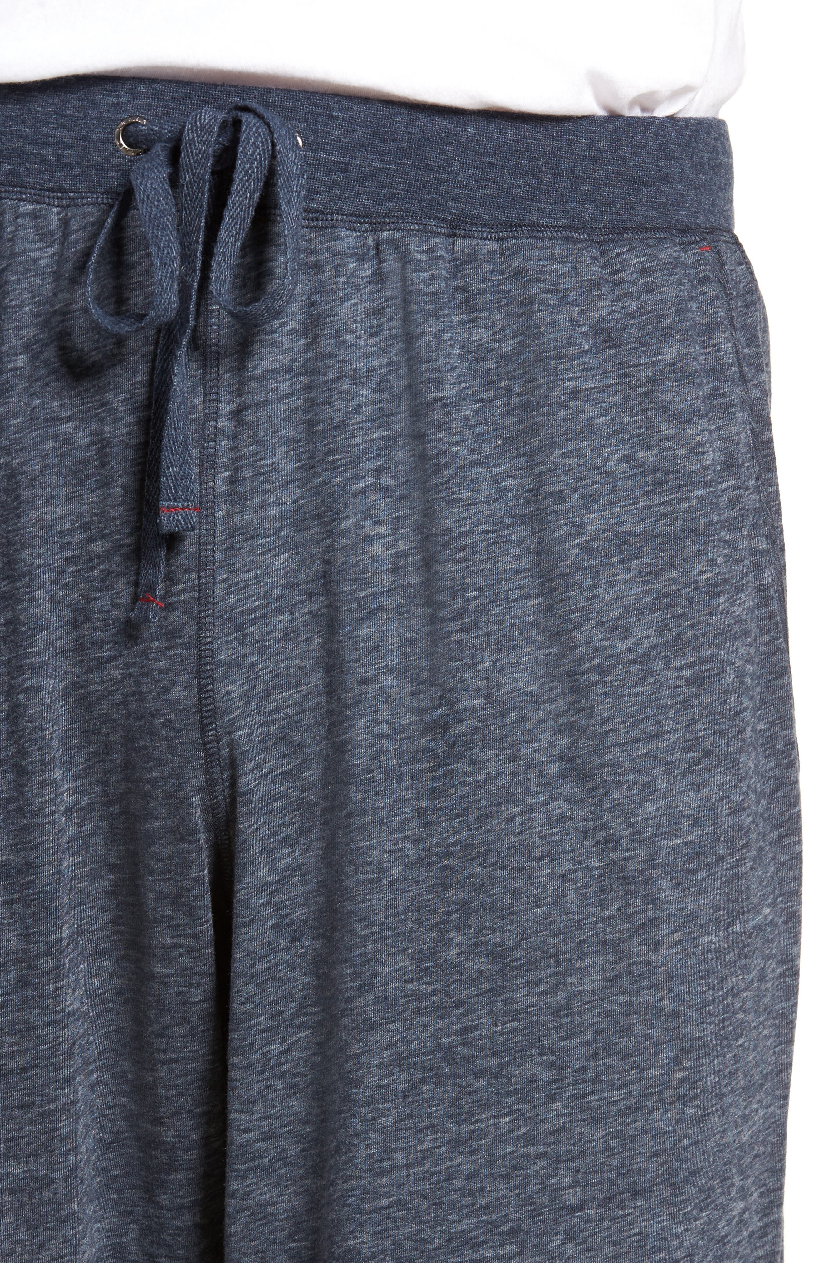 Recycled Cotton Blend Lounge Pants,                             Alternate thumbnail 4, color,                             Navy Heather