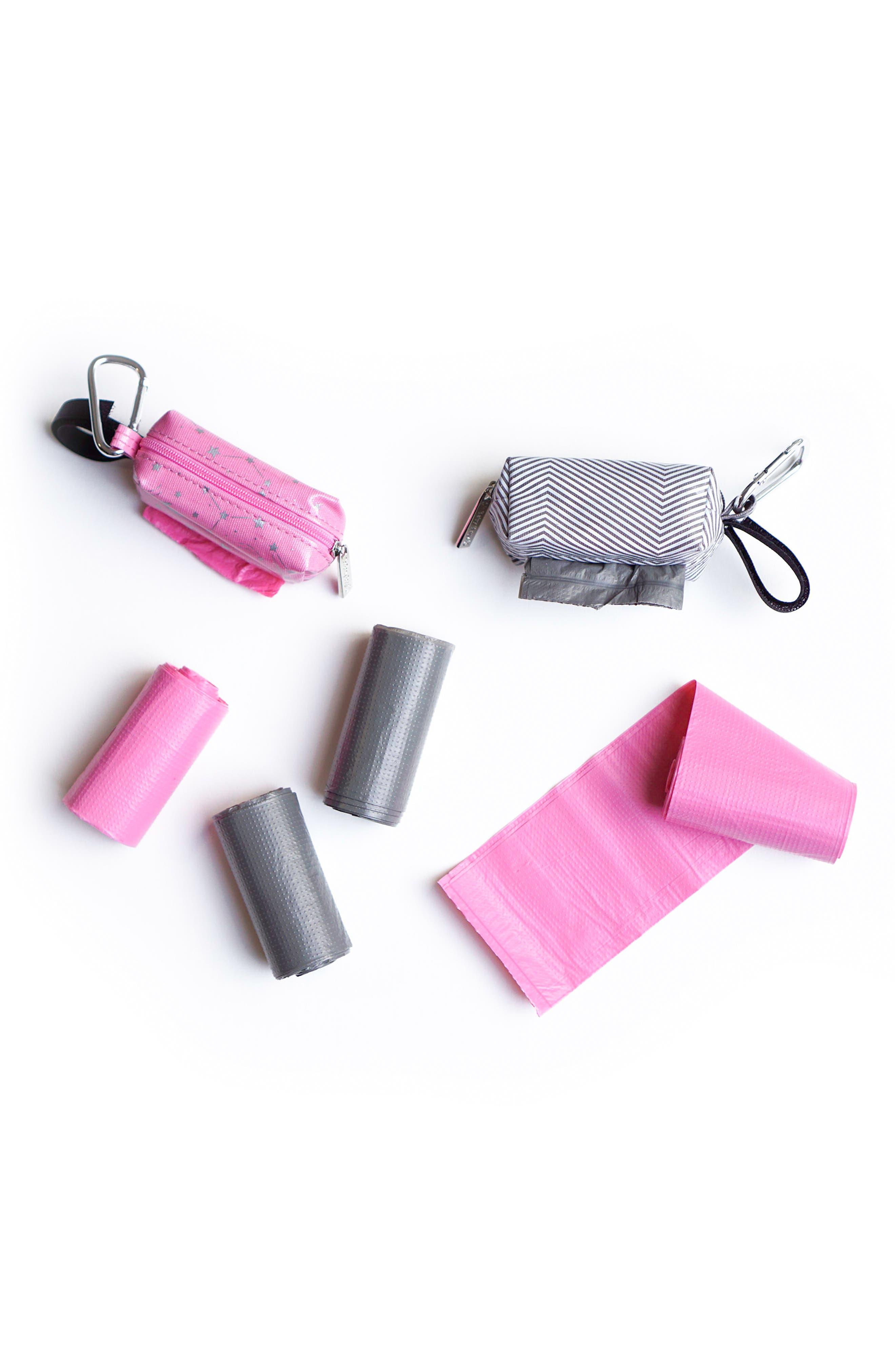 Portable Clip-On Dispenser & Bag Set,                             Alternate thumbnail 2, color,                             Pink/ Grey