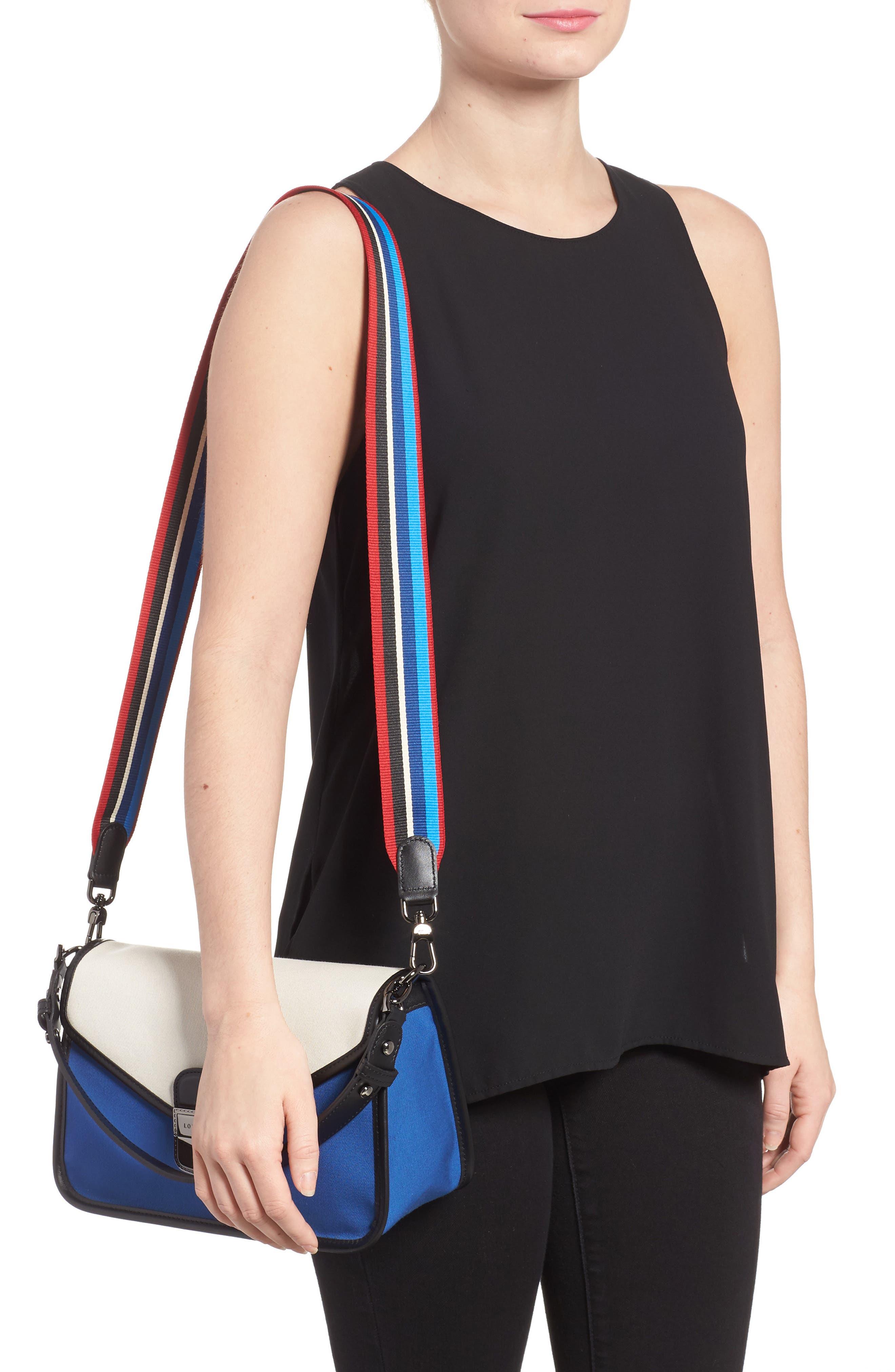 Alternate Image 2  - Longchamp Mademoiselle Gabardine Canvas Shoulder Bag