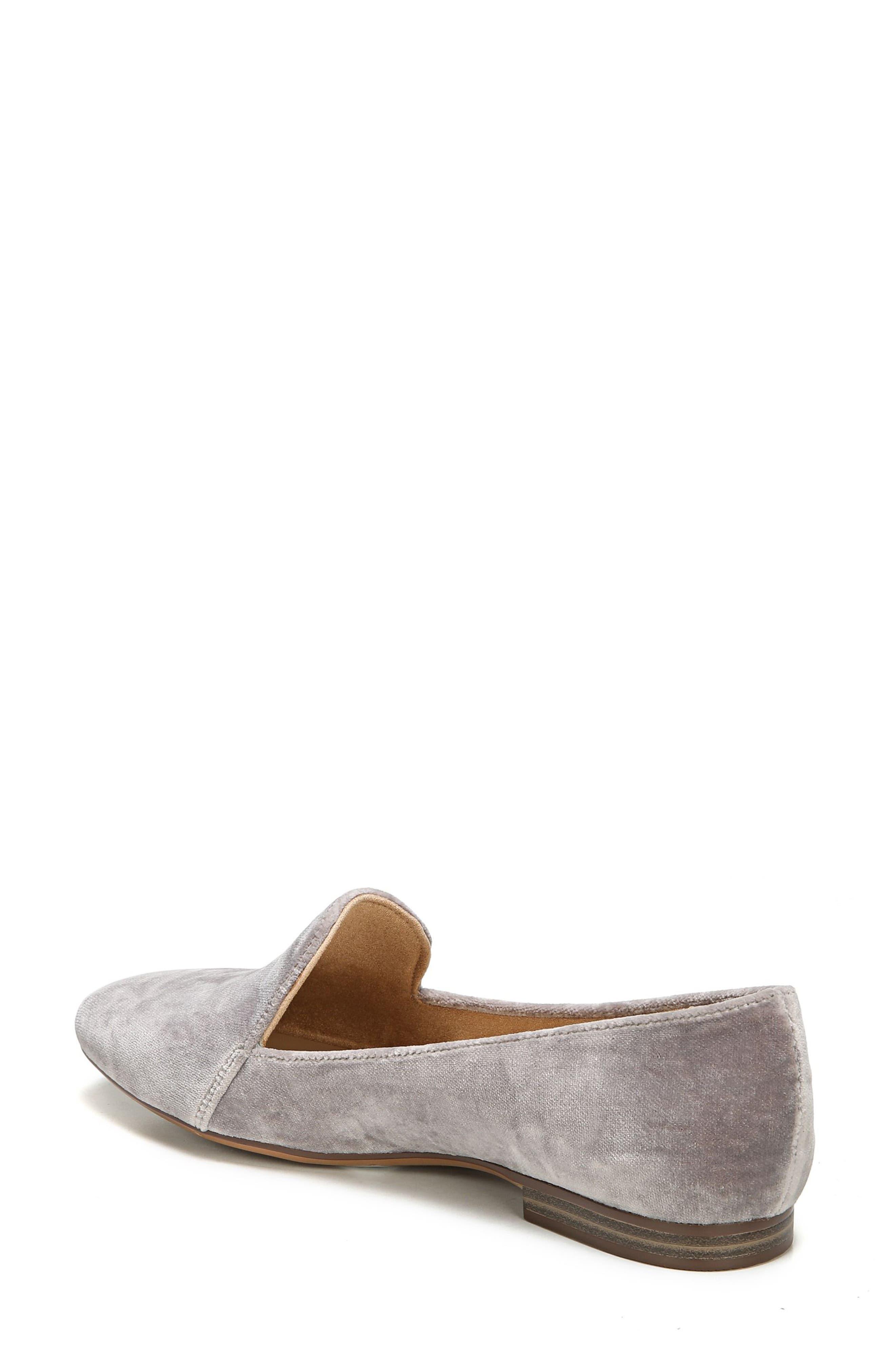 Emiline Flat Loafer,                             Alternate thumbnail 2, color,                             Taupe Velvet Fabric