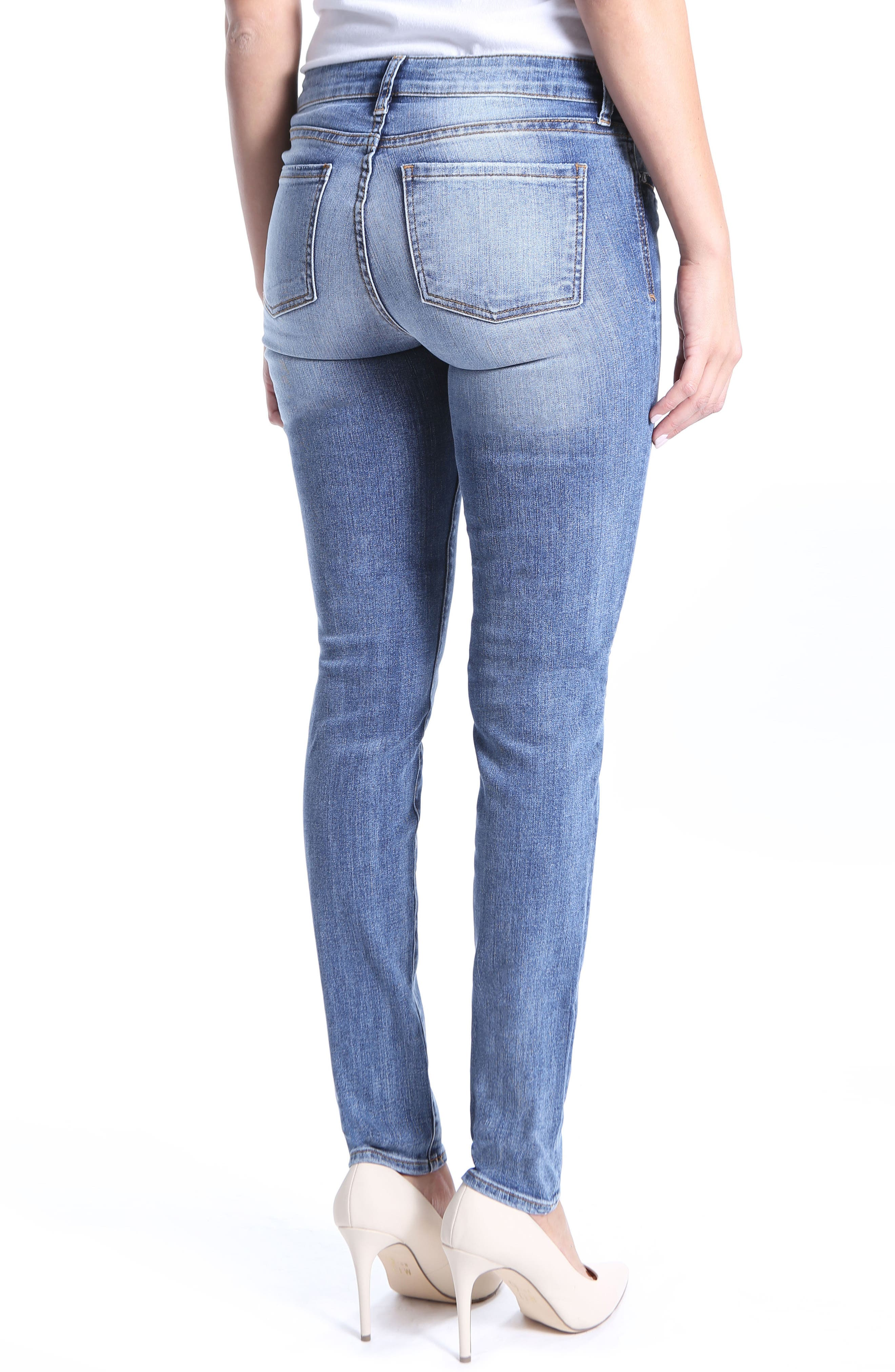 Diana Stretch Skinny Jeans,                             Alternate thumbnail 2, color,                             Clarified