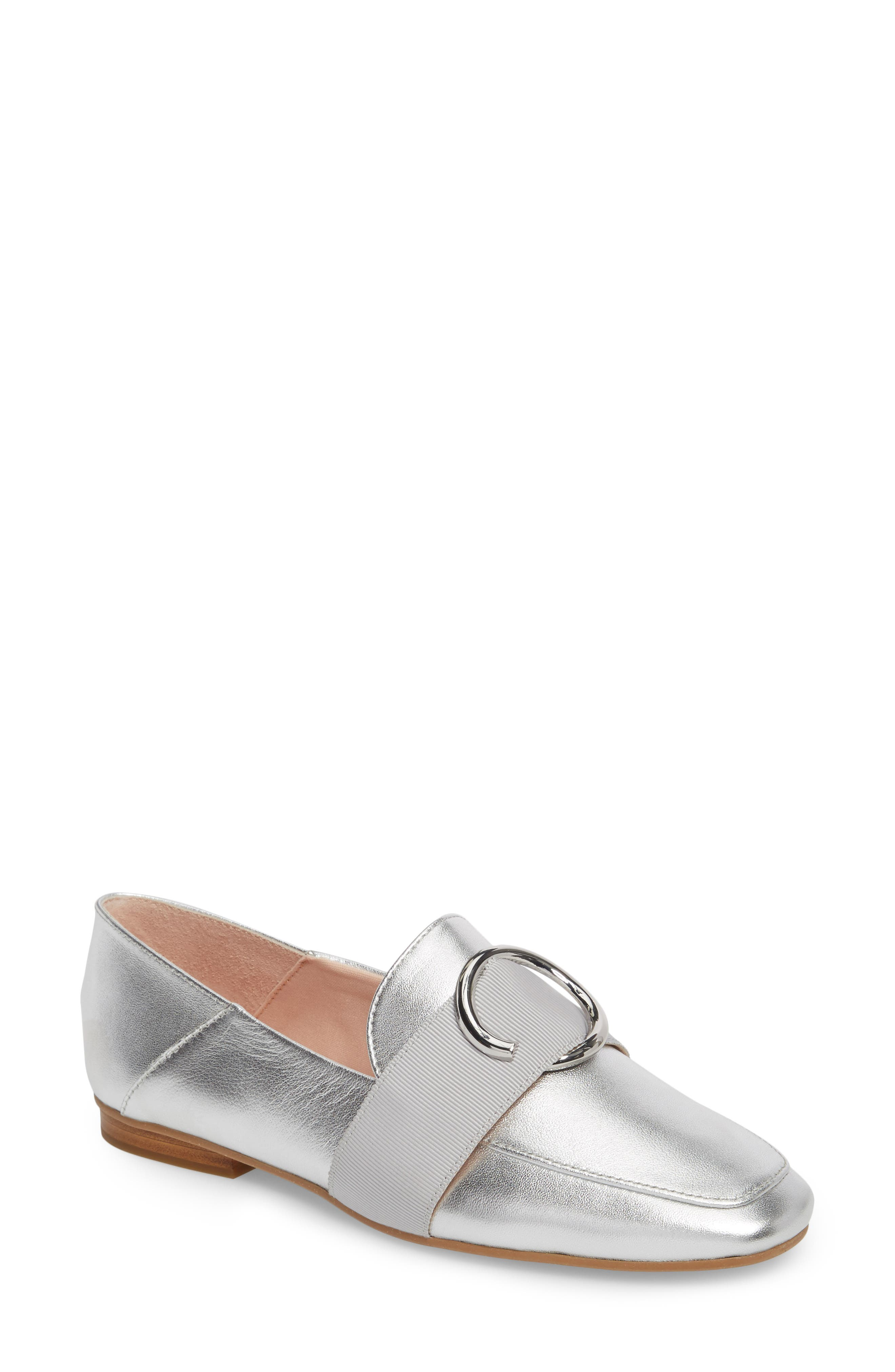 Ilani Convertible Slip Ring Loafer,                         Main,                         color, Silver Leather