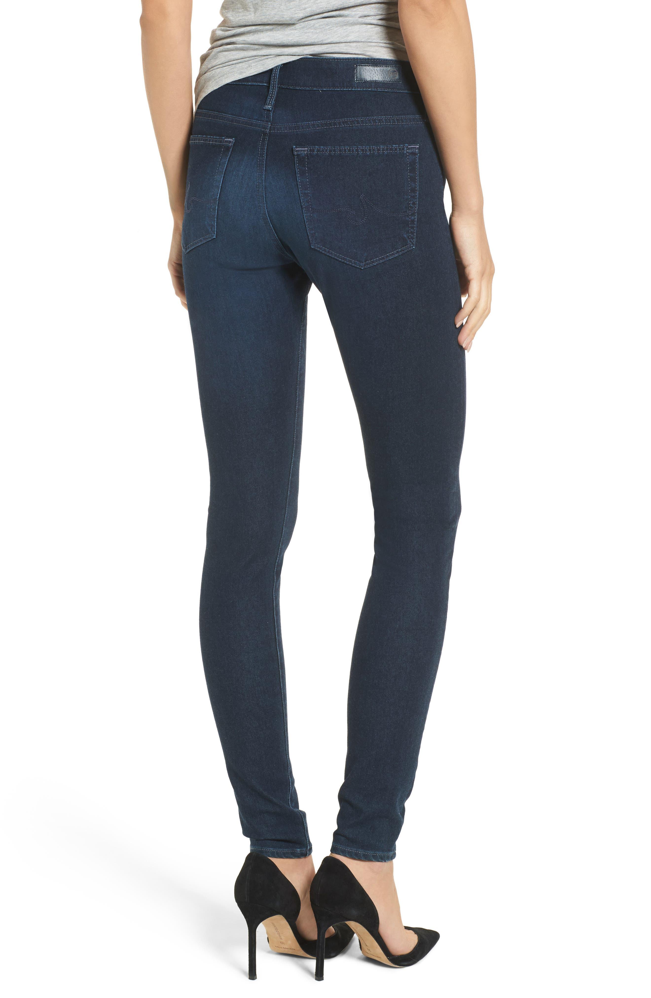 Alternate Image 2  - AG The Farrah High Waist Skinny Jeans