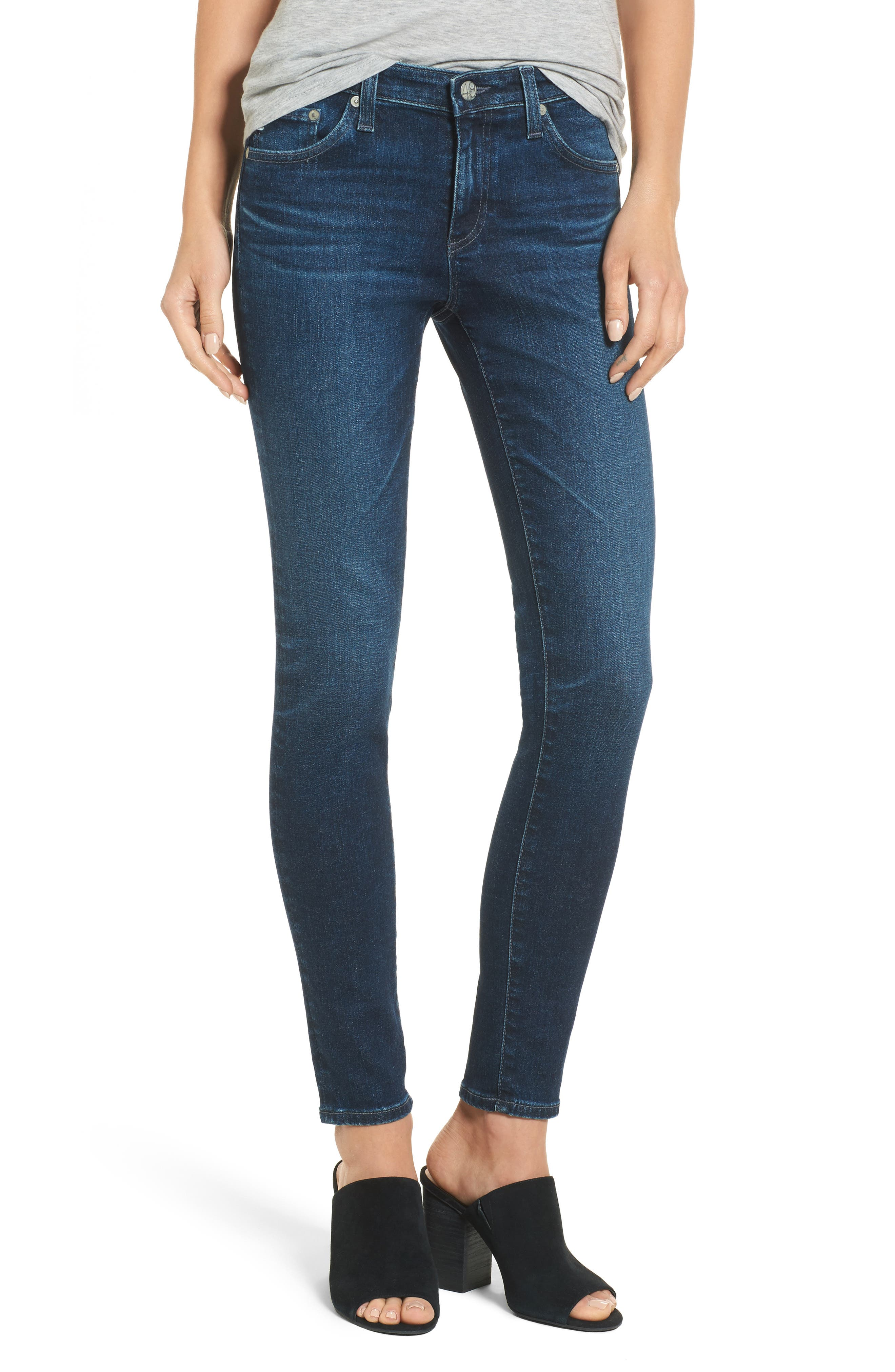 Alternate Image 1 Selected - AG The Legging Ankle Super Skinny Jeans (04 Years Rapid)