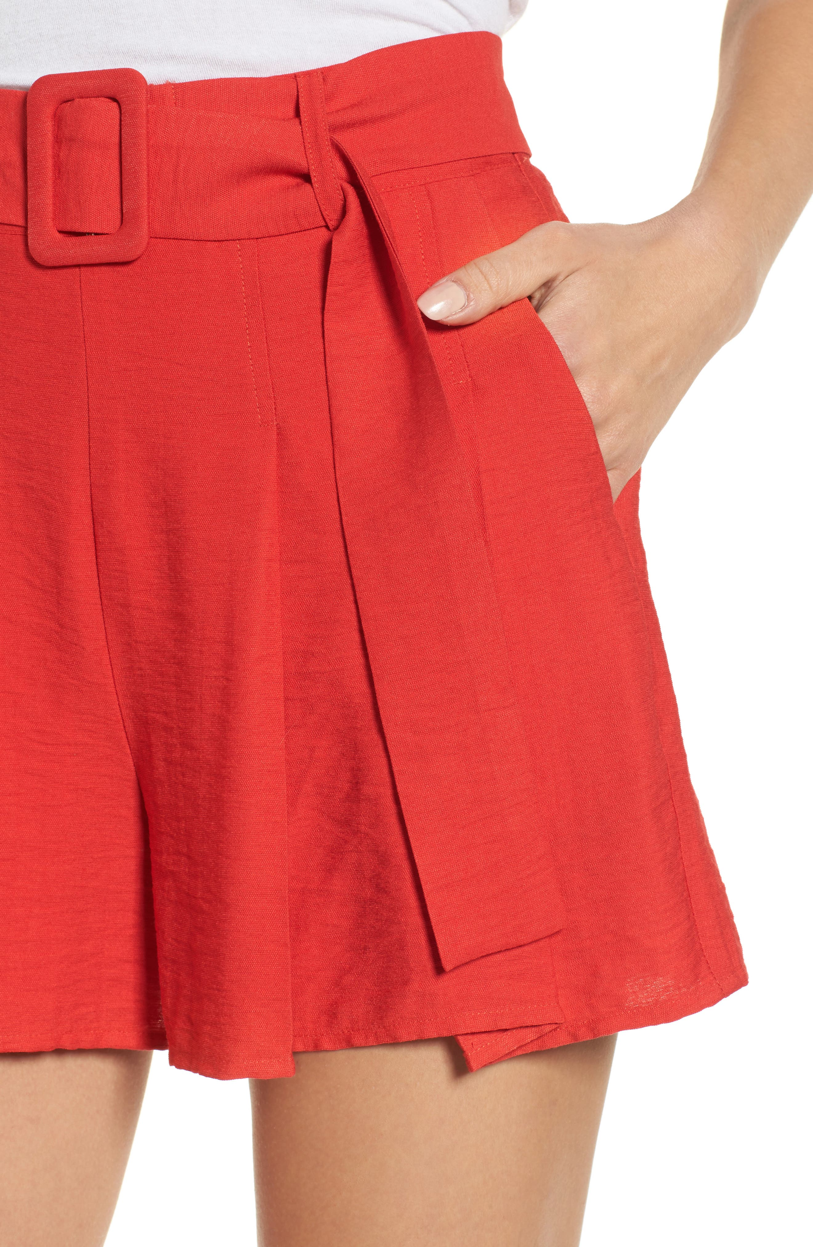 Alternate Image 5  - Moon River Belted High Waist Shorts